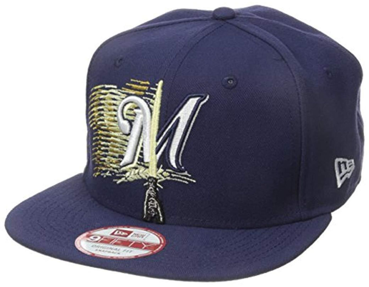 on sale 73f64 6cb49 KTZ Cap Logo Swipe Milwaukee Brewers Star Wars 9fifty Snapback Cap, Black, One  Size in Black for Men - Lyst