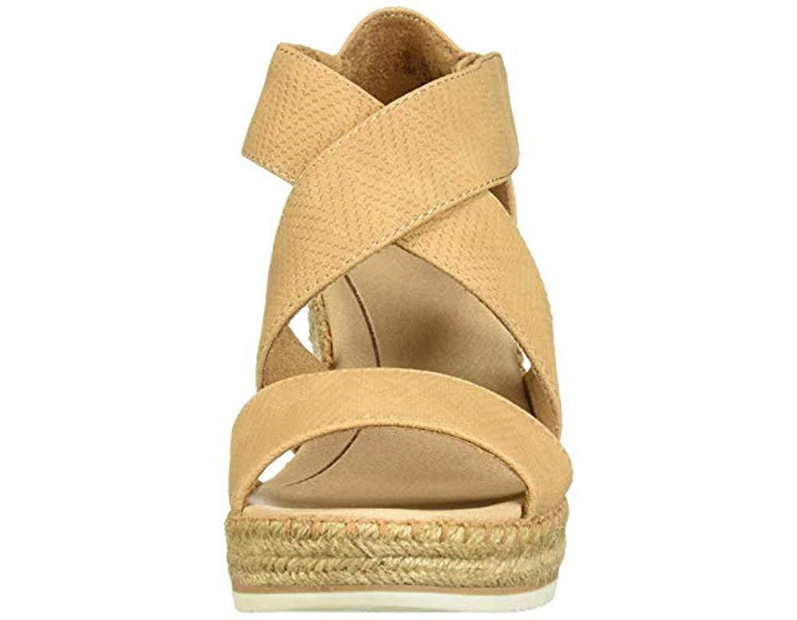 64dee4d87d Dr. Scholls Vacay Espadrille Wedge Sandal in Natural - Lyst