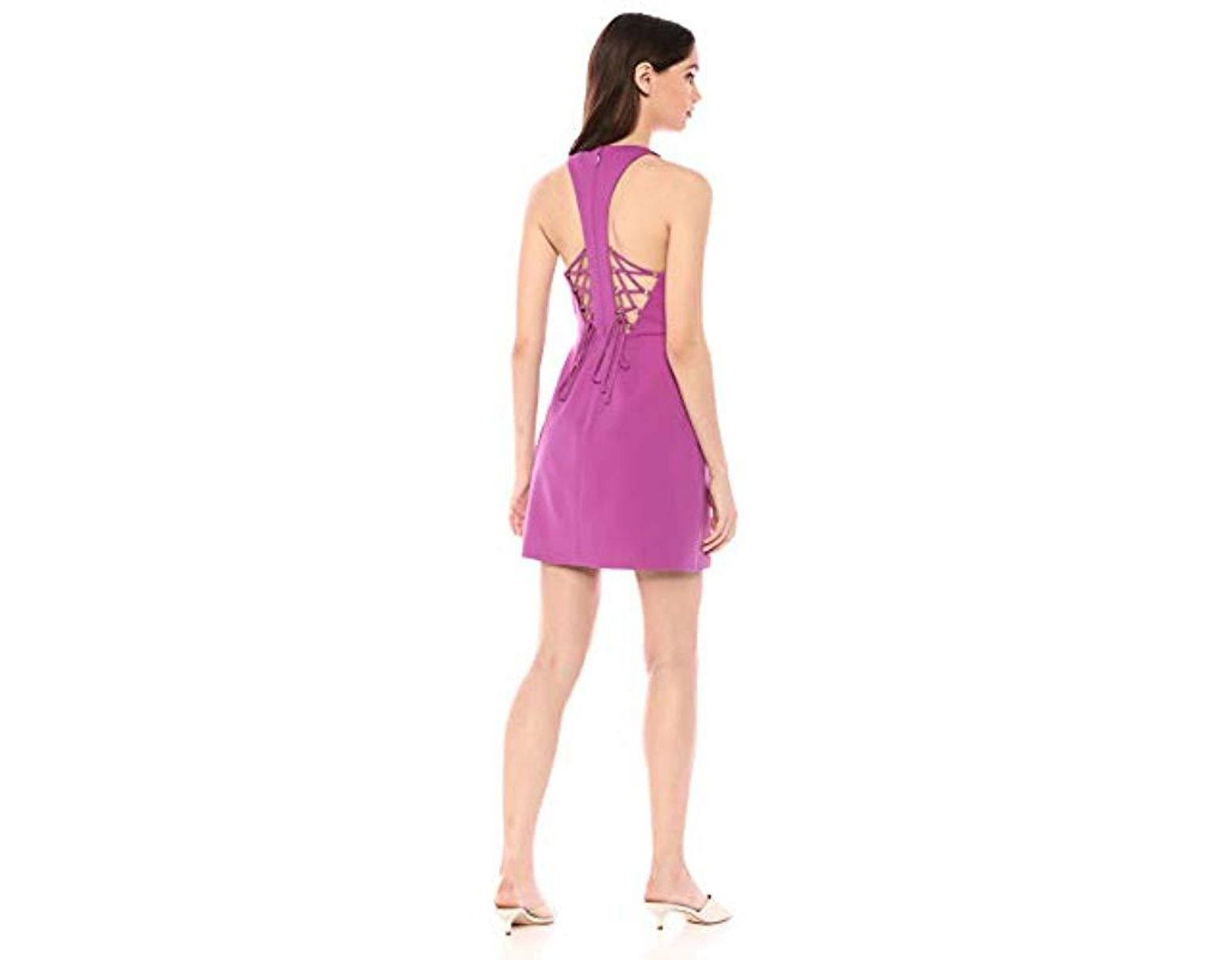 88d53619879a0 BCBGMAXAZRIA Ely Lace-up Halter Dress in Purple - Save 30% - Lyst