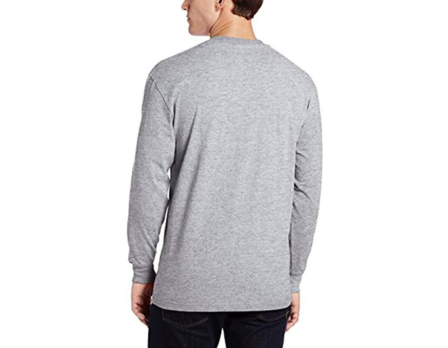 da5e13e8adc0 Dickies Big-tall Long-sleeve Heavyweight Henley in Gray for Men - Save 46%  - Lyst