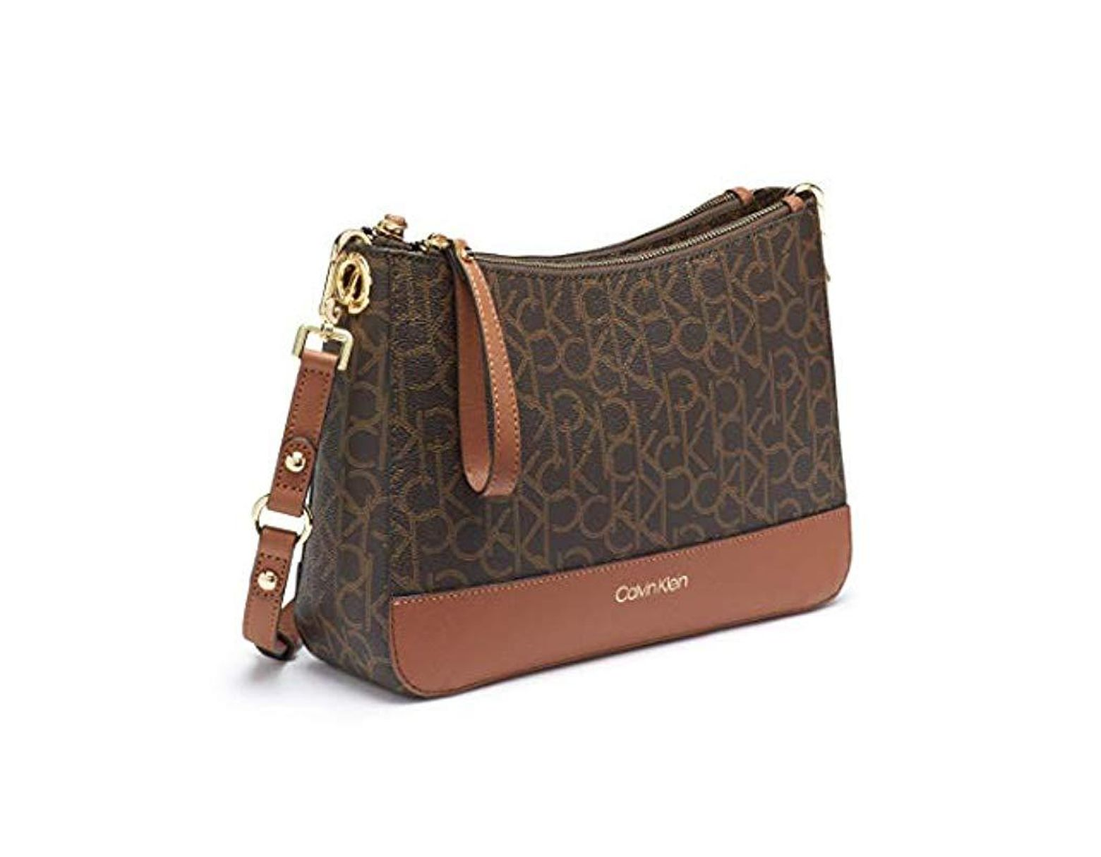886dc990f5 Calvin Klein Sonoma Signature Monogram Messenger Crossbody in Brown - Lyst