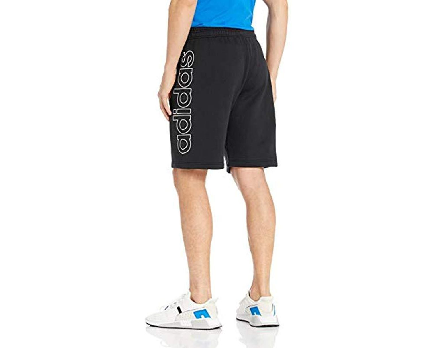 2ae9b6b255093 adidas Originals French Terry Outline Shorts in Blue for Men - Lyst