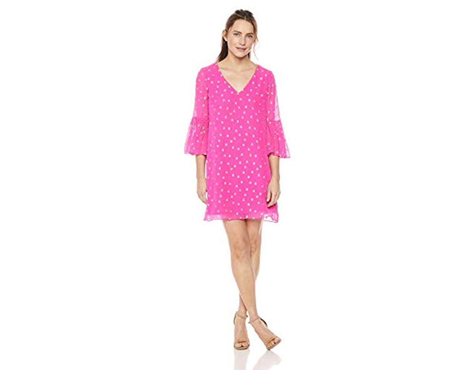 5623ce57720 Lilly Pulitzer Caroline Silk Tunic Dress in Pink - Lyst
