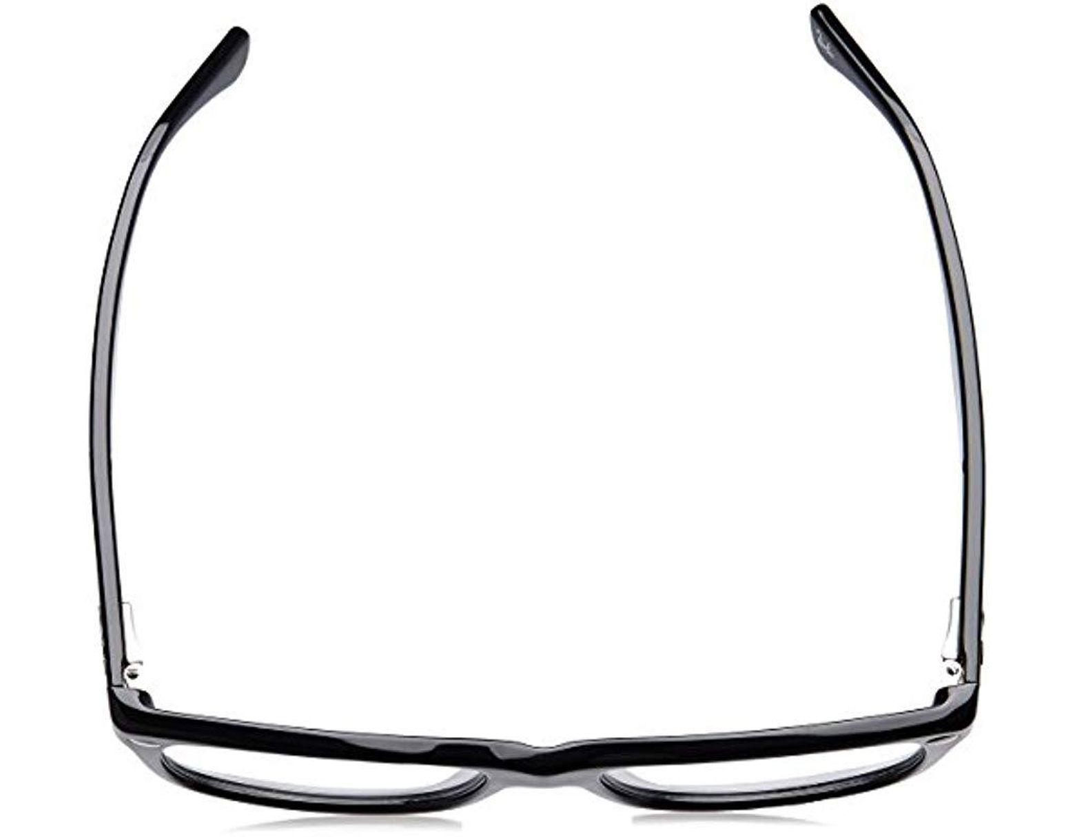 Ray-Ban Rx5228 Square Eyeglass Frames, Shiny Black/demo Lens