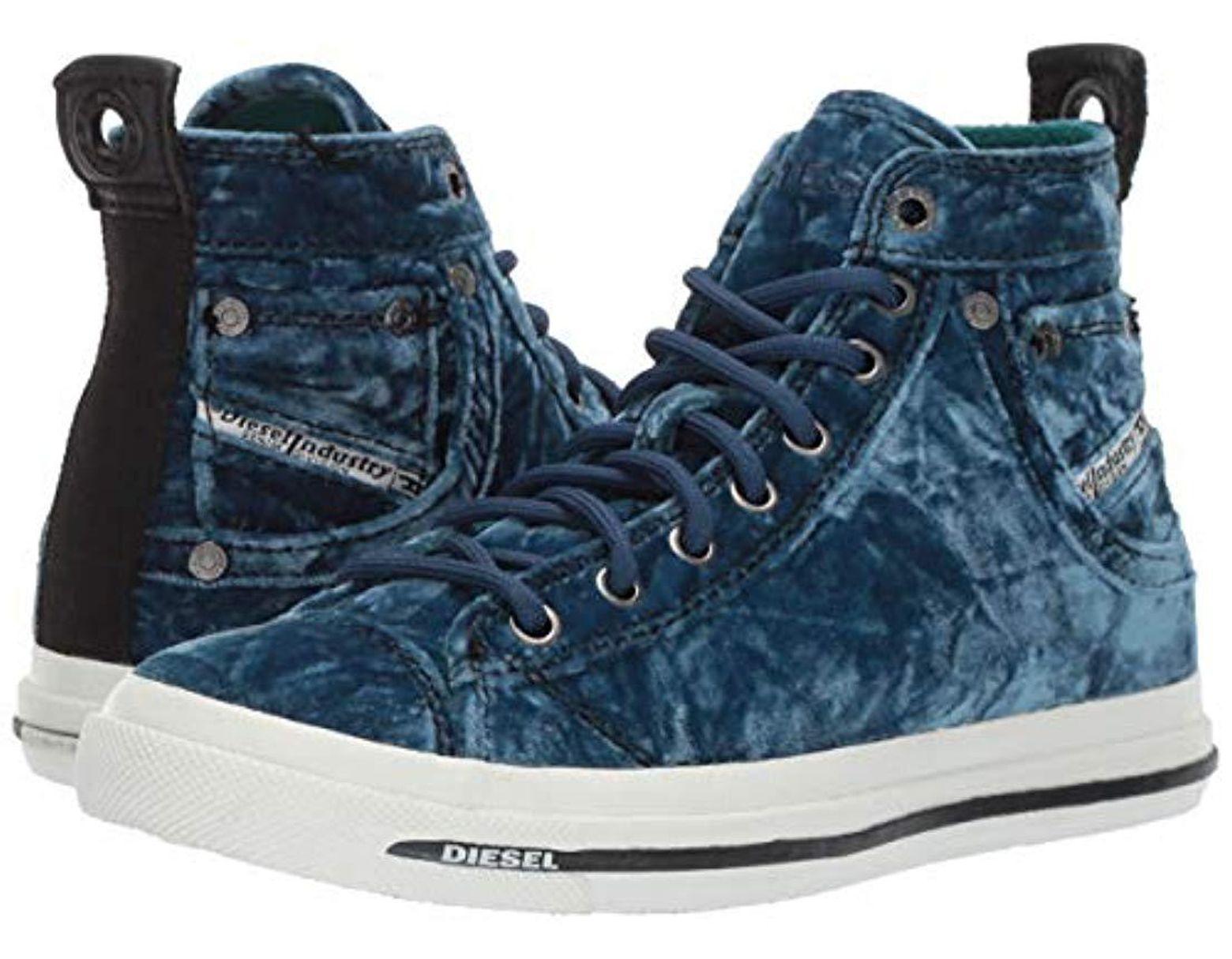 e88a23f33e DIESEL Magnete Exposure Iv W-sneaker Mid in Blue - Lyst