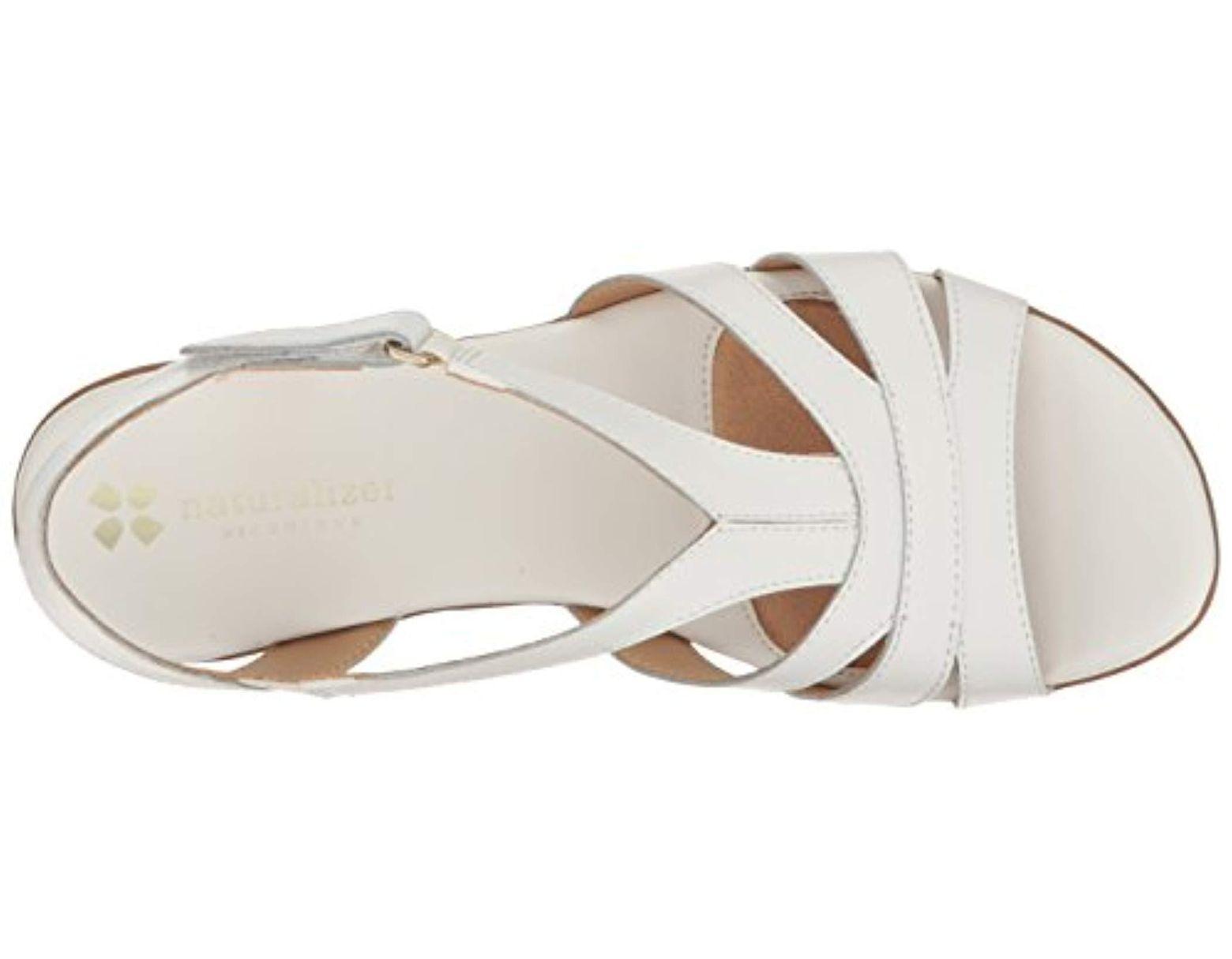 f24ebb10a4f89 Lyst - Naturalizer Neina Huarache Sandal in White - Save 35%