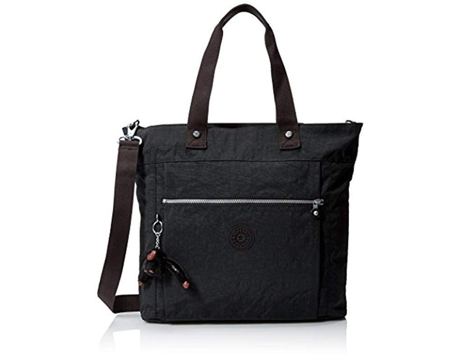 a4ed737e83a Kipling Lizzie Solid Travel Laptop Tote Shoulder Bag in Black - Save 4% -  Lyst