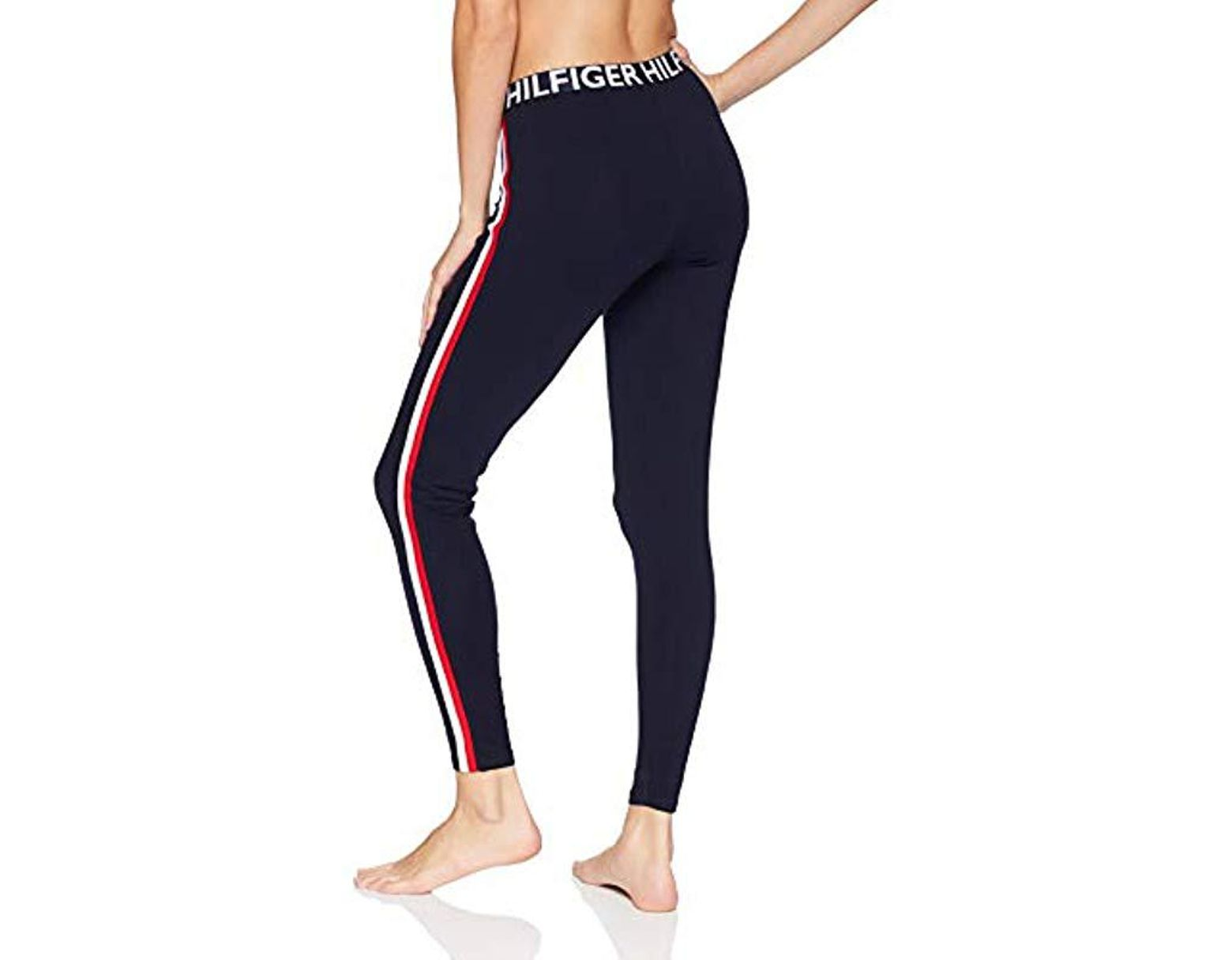 0be1338c07b0e7 Tommy Hilfiger Retro Style Hilfiger Logo Graphic Leggings Pant Lounge Pj in  Blue - Save 26% - Lyst