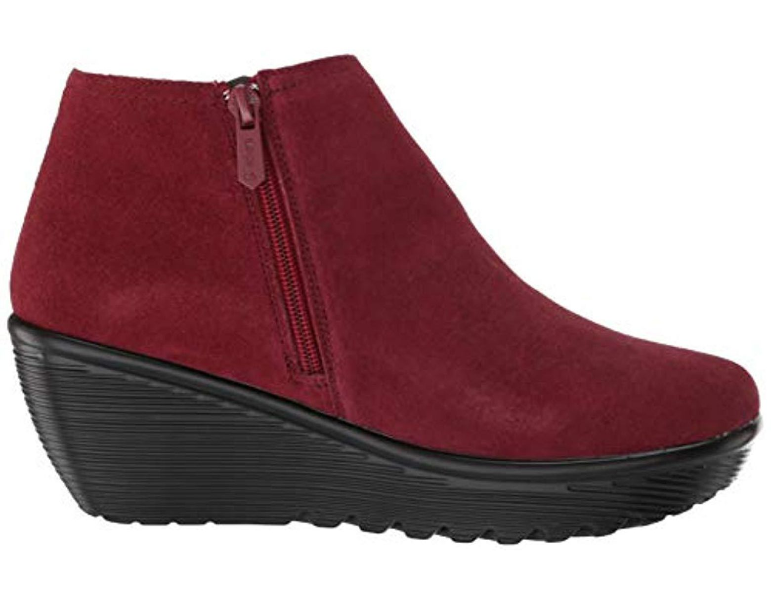 68b288dd8a3 Women's Parallel-ditto-asymmetrical Collar Suede Bootie Ankle Boot