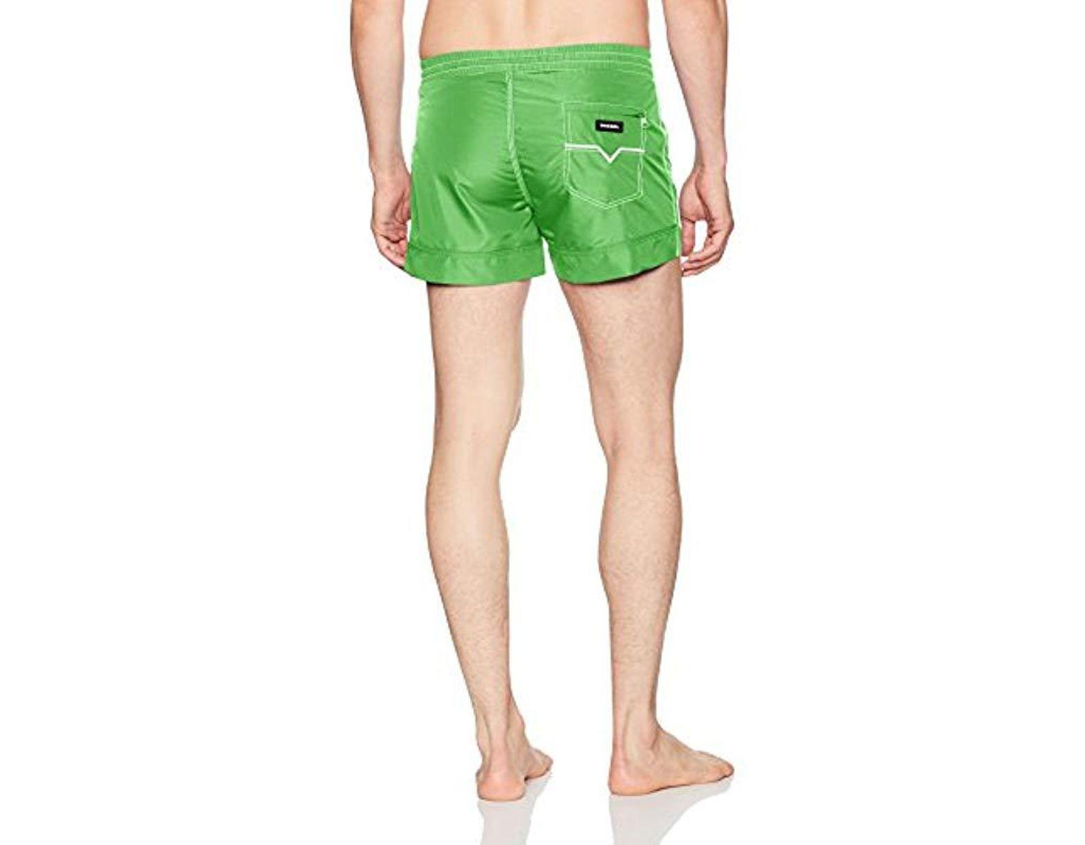 459b273726 DIESEL Sandy Mohican Logo Swim Short in Green for Men - Lyst