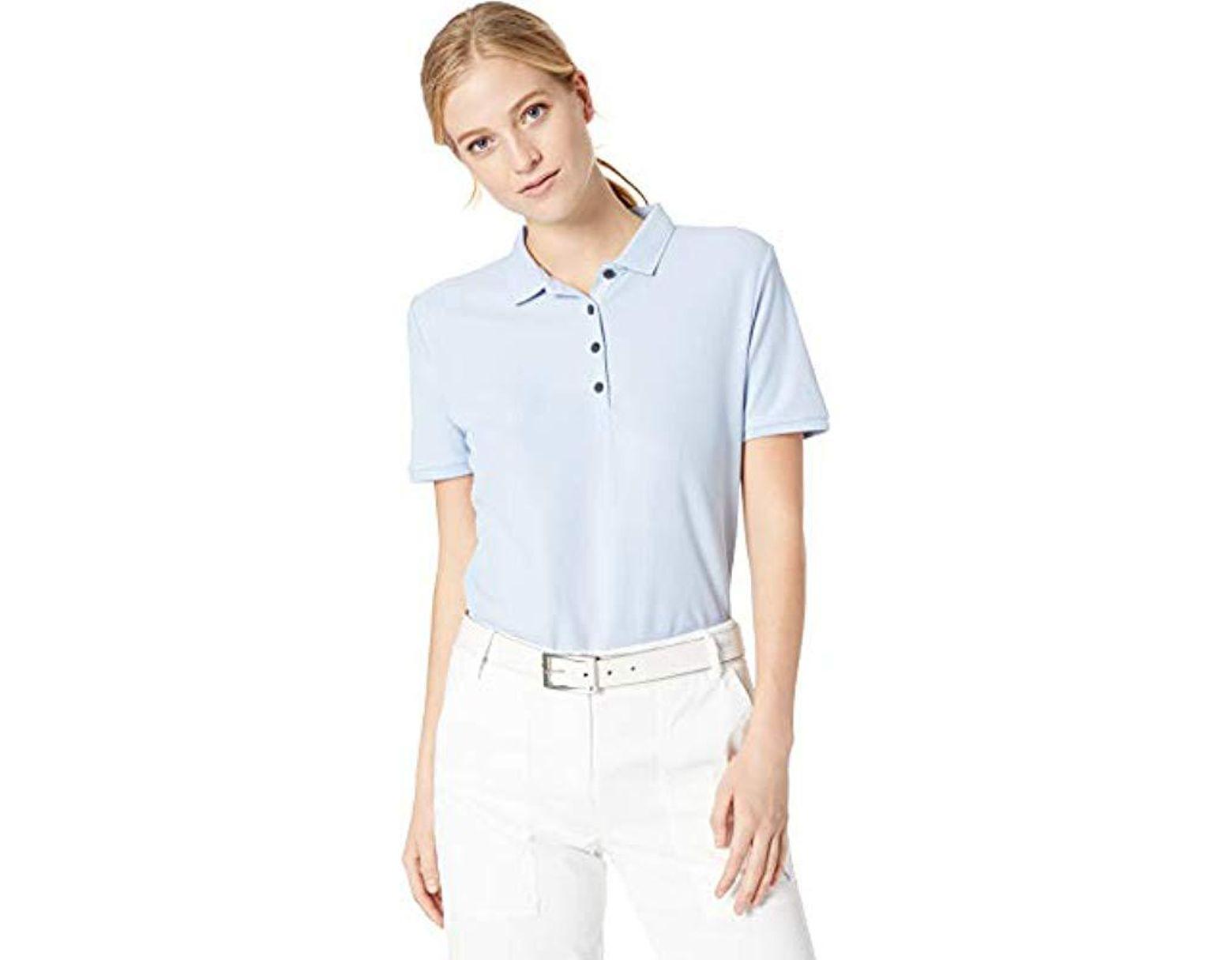a99c38d80 Calvin Klein Performance Cotton Pique Polo in Blue - Lyst