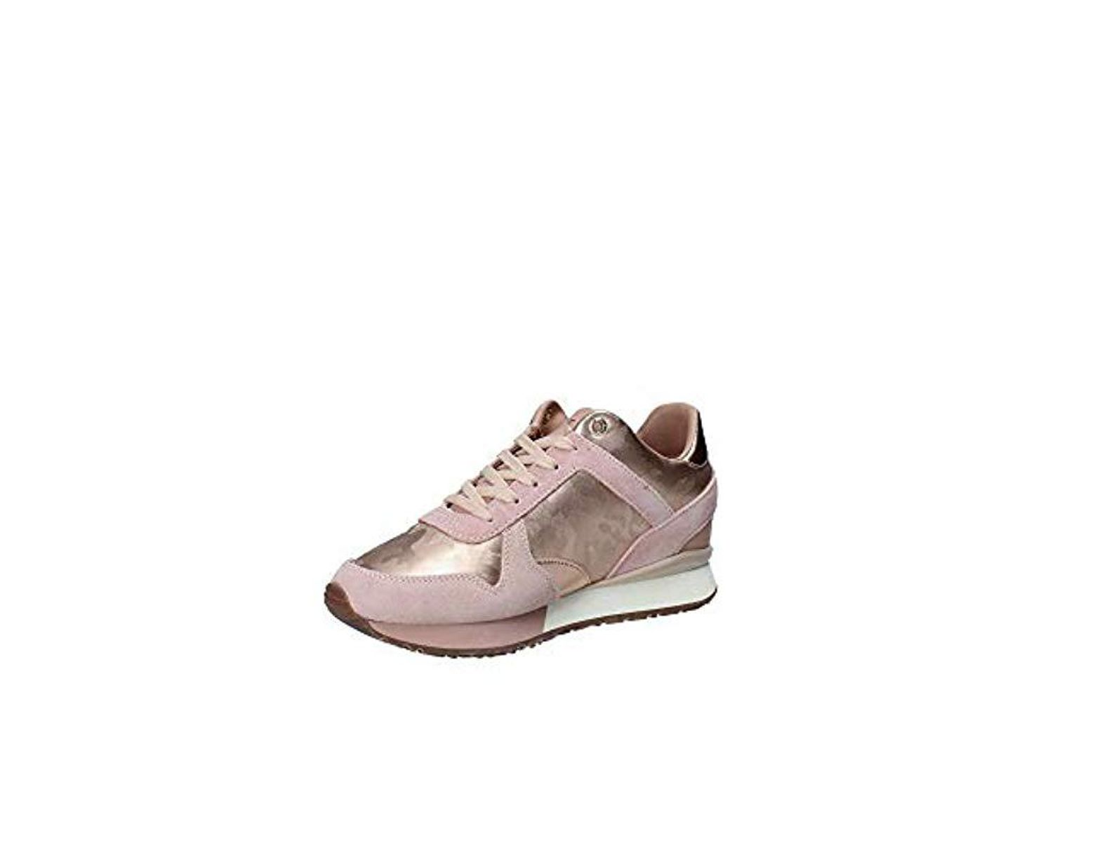 09fdb752516a0 Tommy Hilfiger Camo Metallic Wedge Sneaker Low-top in Metallic - Lyst