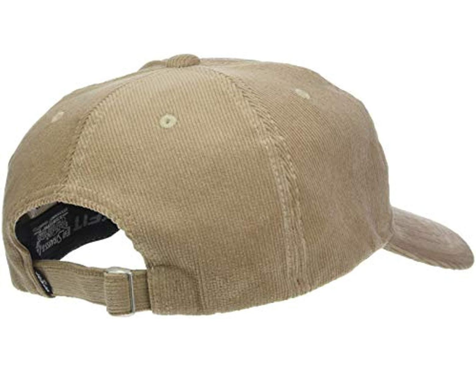 competitive price 0b2ef 614c8 Levi s Cord Batwing Hat Baseball Cap in Natural for Men - Lyst