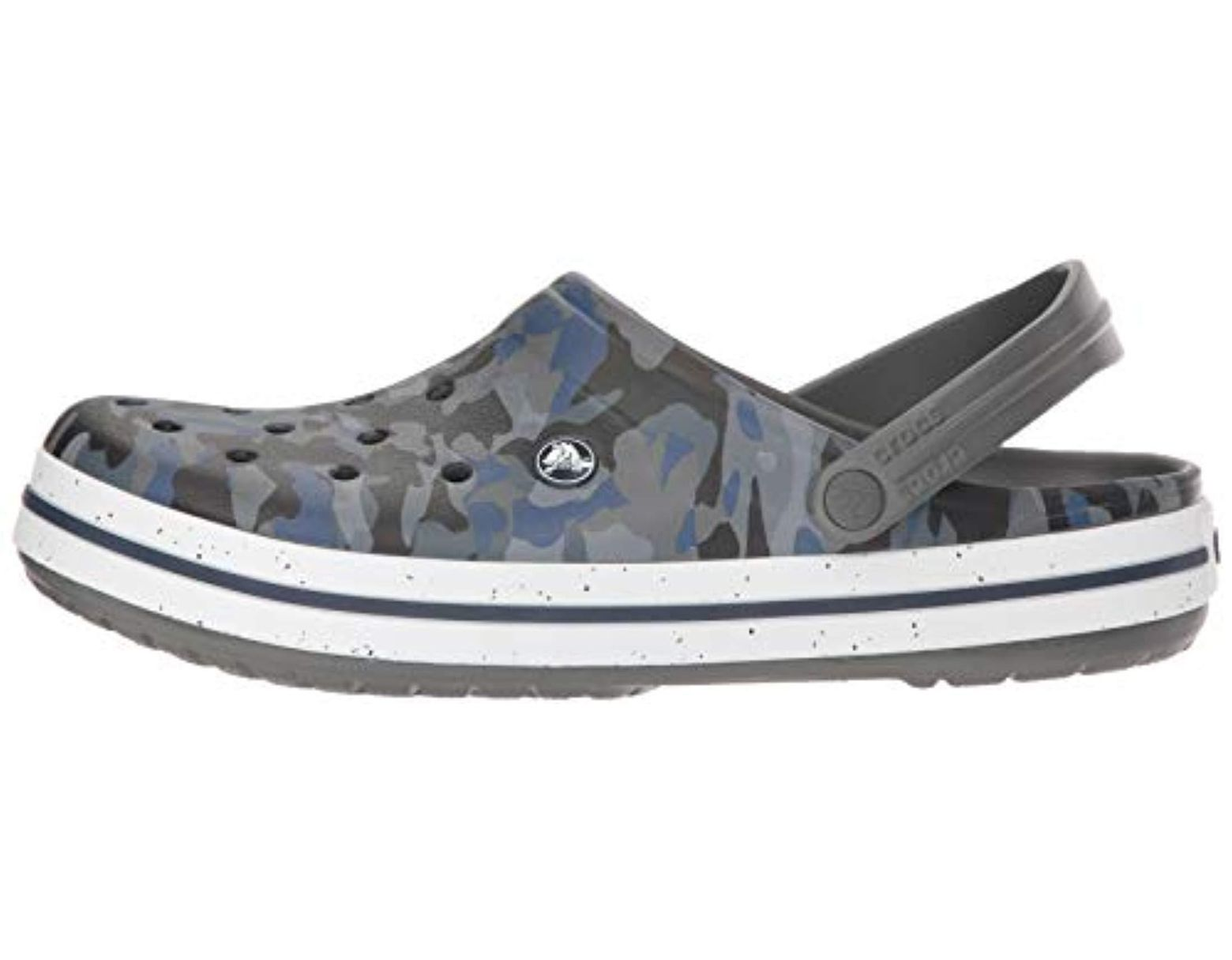 ae4a0930a Crocs™ Unisex Adults  Crocband Graphic Iii Clog in Gray for Men - Lyst