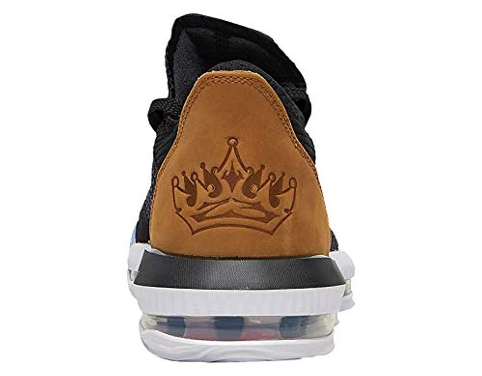 outlet store 5d0e2 53345 Nike Lebron 16 Low Synthetic Basketball Shoes in Black for ...