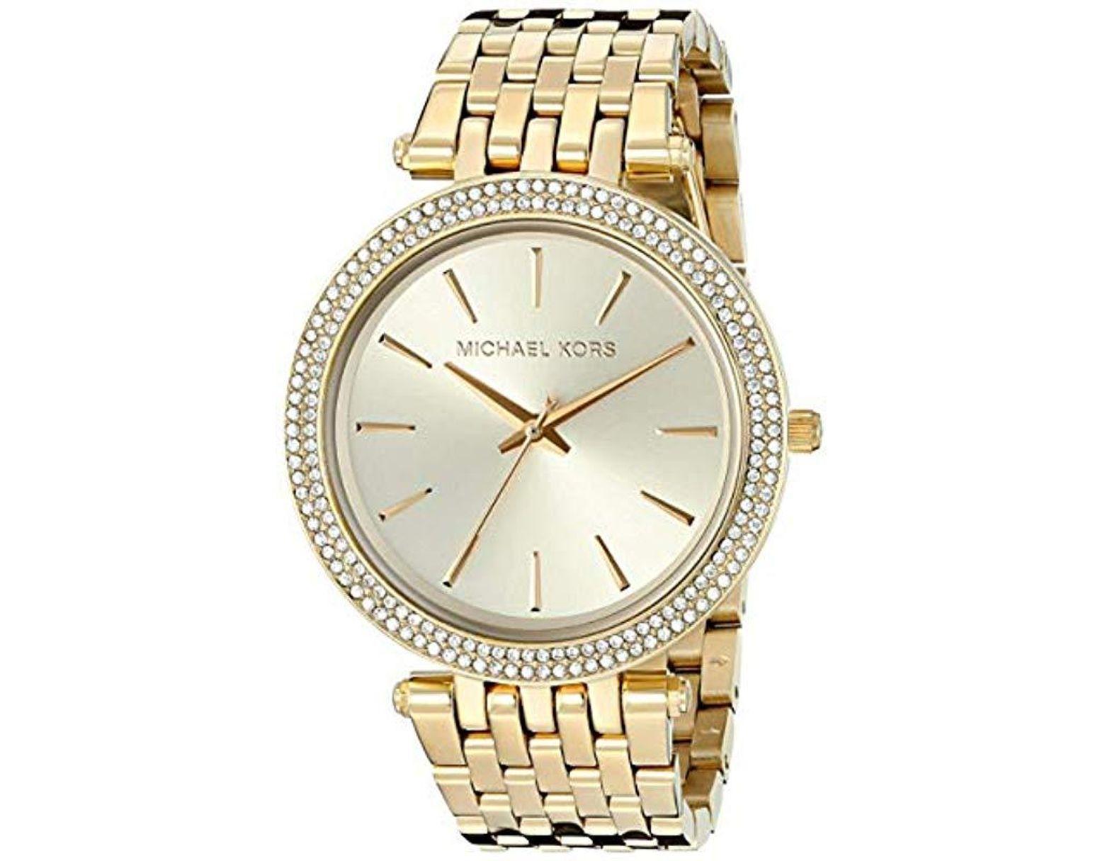 712618b85d79 Lyst - Michael Kors Darci Gold-tone Watch Mk3191 in Metallic - Save 17%