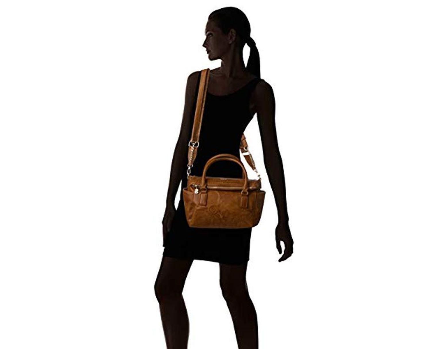 f2904c6fb9c Desigual Bols dark Amber Loverty Bag in Brown - Lyst