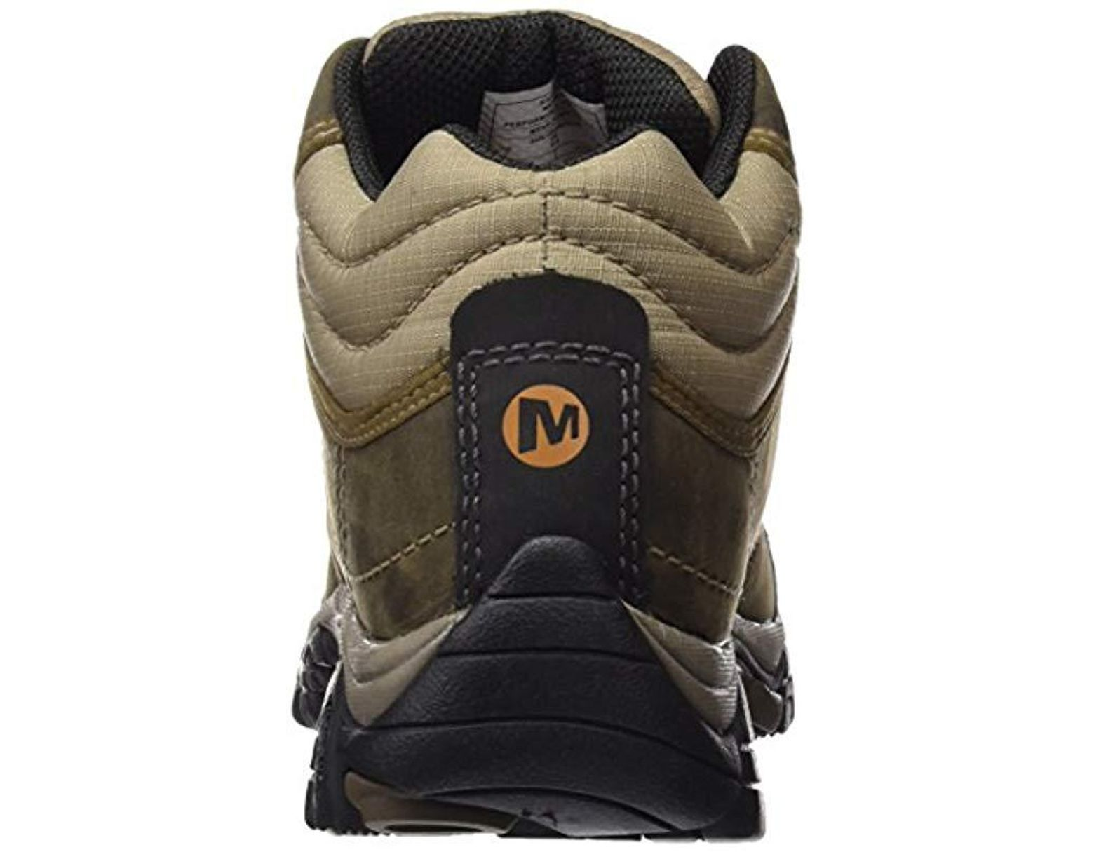 d7ec3caa18465 Merrell Moab Rover Mid Waterproof High Rise Hiking Boots in Brown for Men -  Lyst