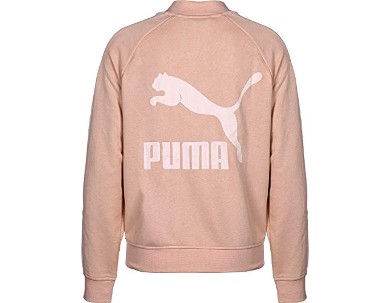 f9f598eafc93d PUMA Classics Logo T7 Track Jaket, Sports Jacket in Natural - Lyst