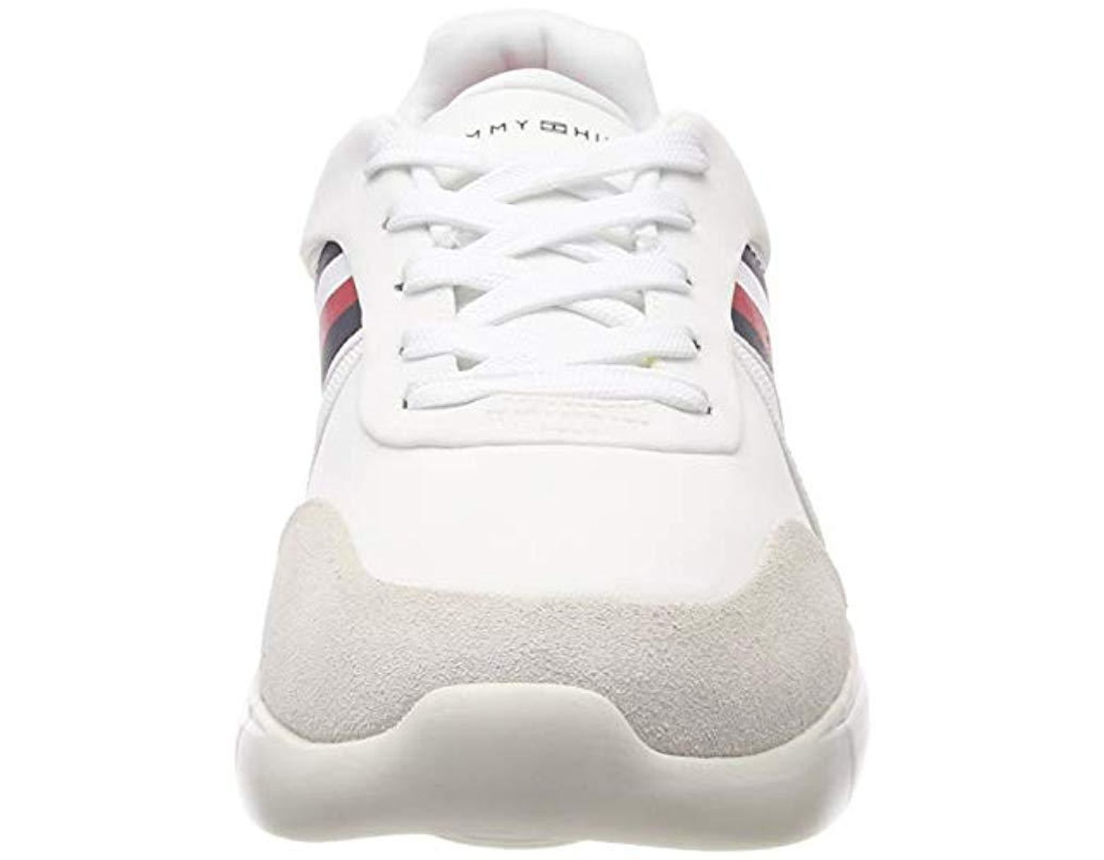Runner Tommy Top In Hilfiger White Lighweight Corporate Low Sneakers CxshQBrdot
