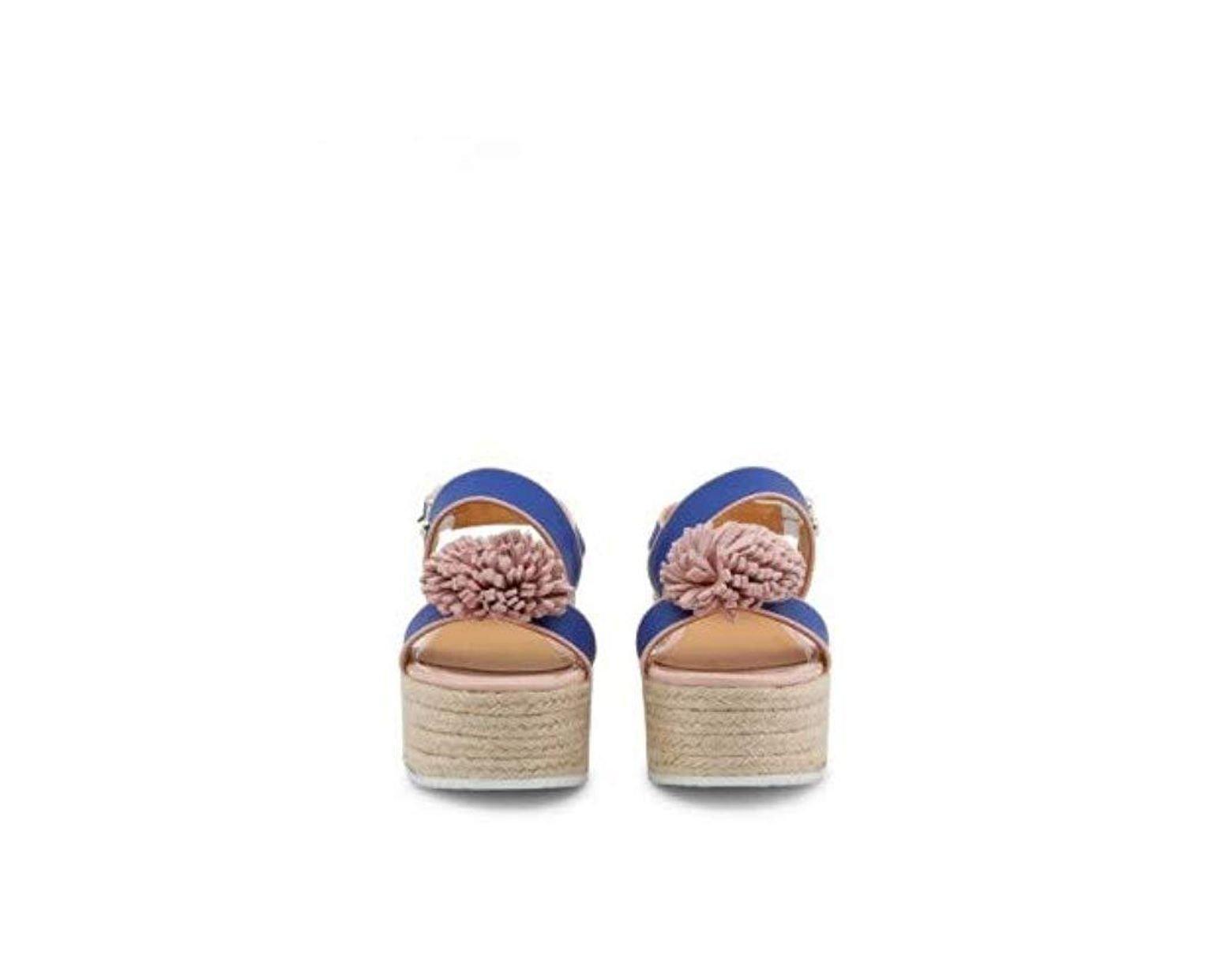 befd99107df5b Love Moschino Platform Sandals Blue Ja16107i15id in Blue - Lyst