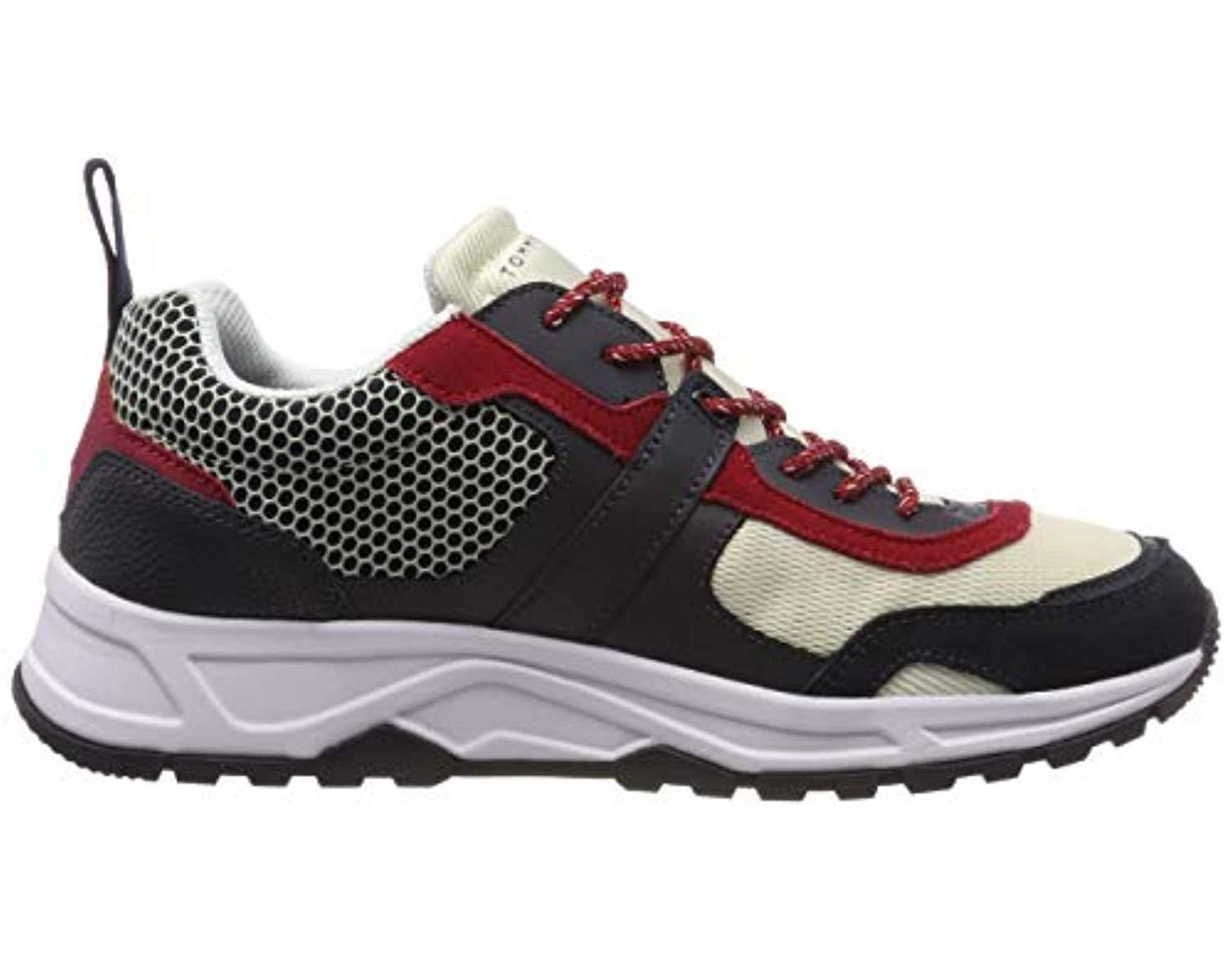 Mix Lightweight Hilfiger Low In Sneakers Tommy Runner Top Material 8Pk0wOn