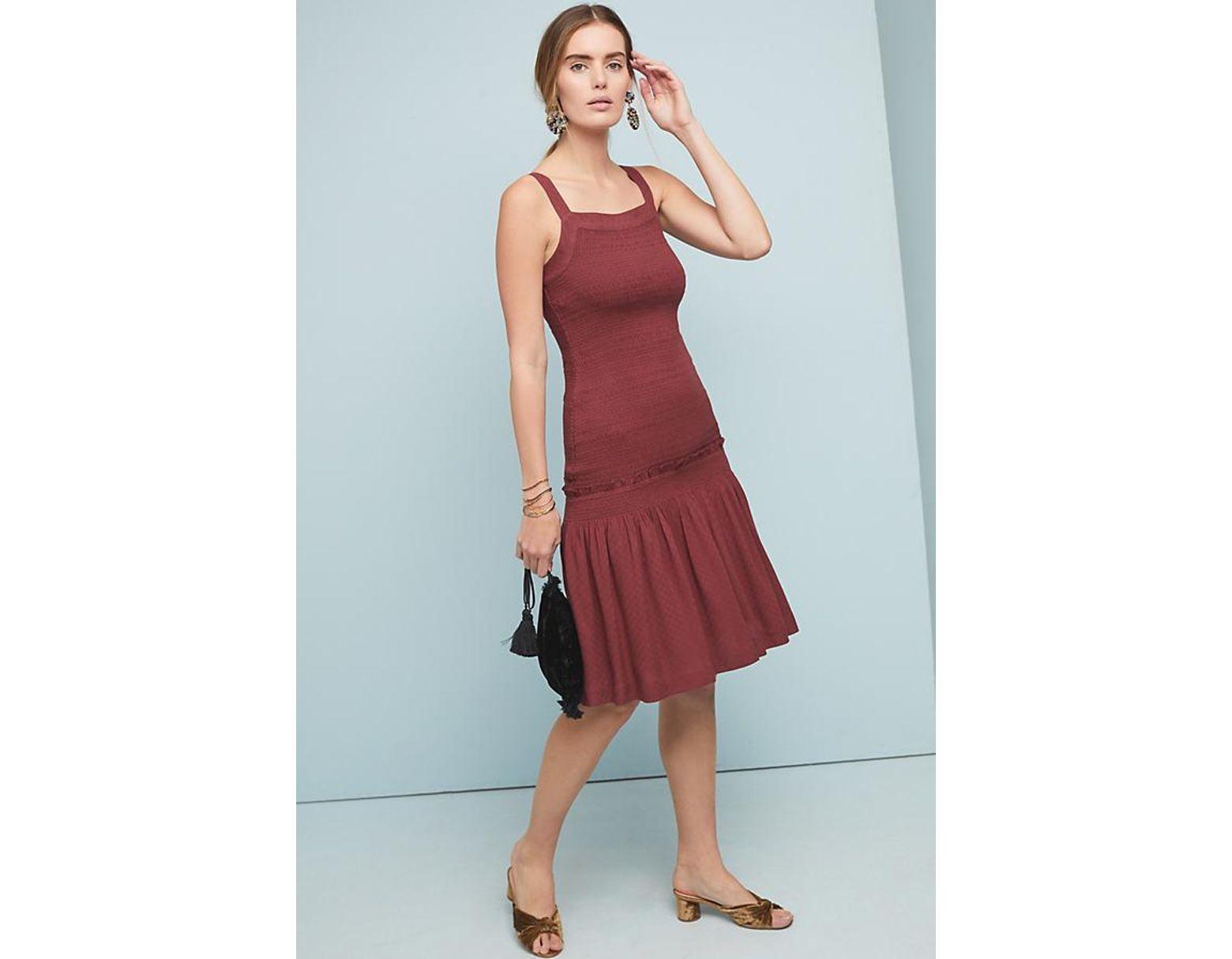 1f5c8252d4 Anthropologie Escondido Smocked Dress in Purple - Lyst