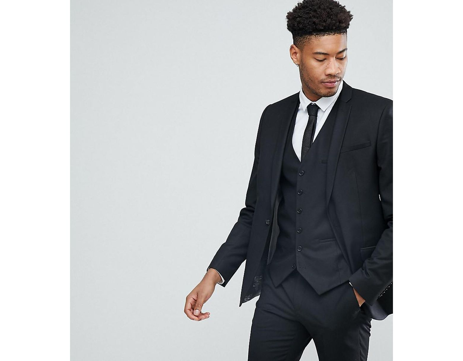 2e6f601089 Heart & Dagger Tall Skinny Suit Jacket in Black for Men - Lyst