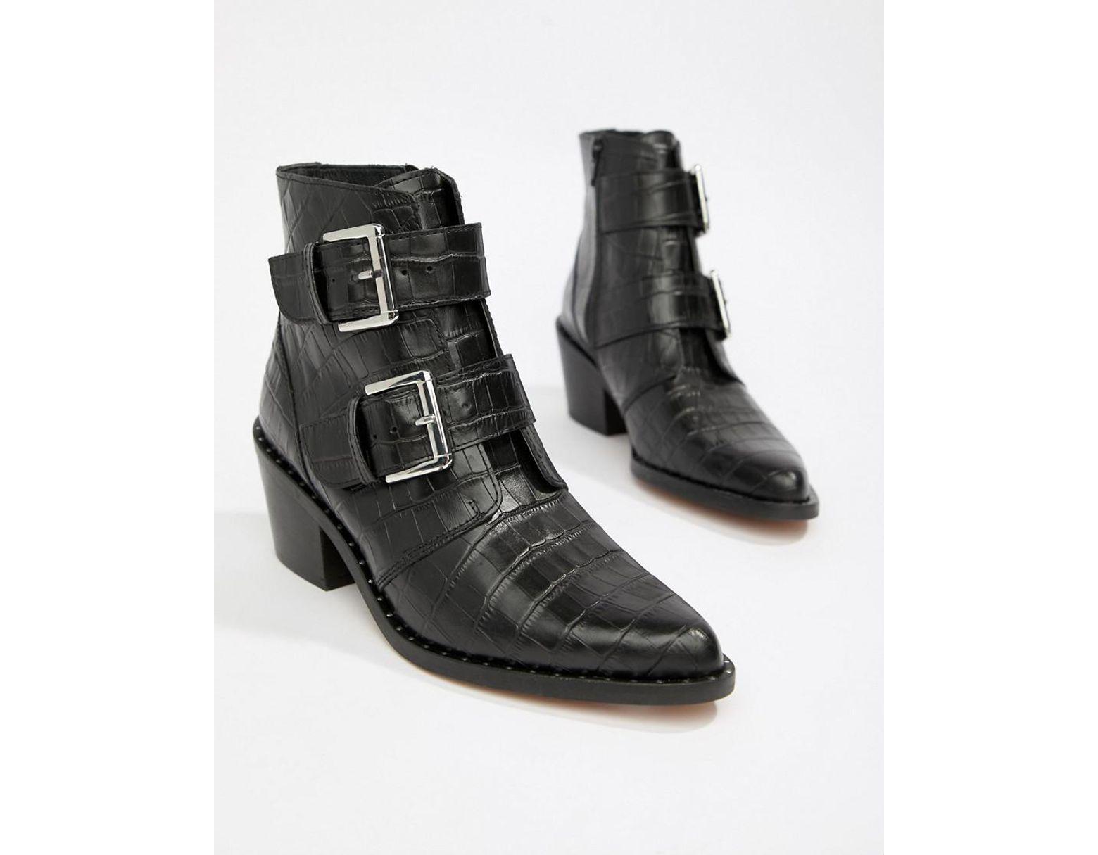05e7ed51289e6 Kurt Geiger Denny Boots in Black - Save 30% - Lyst