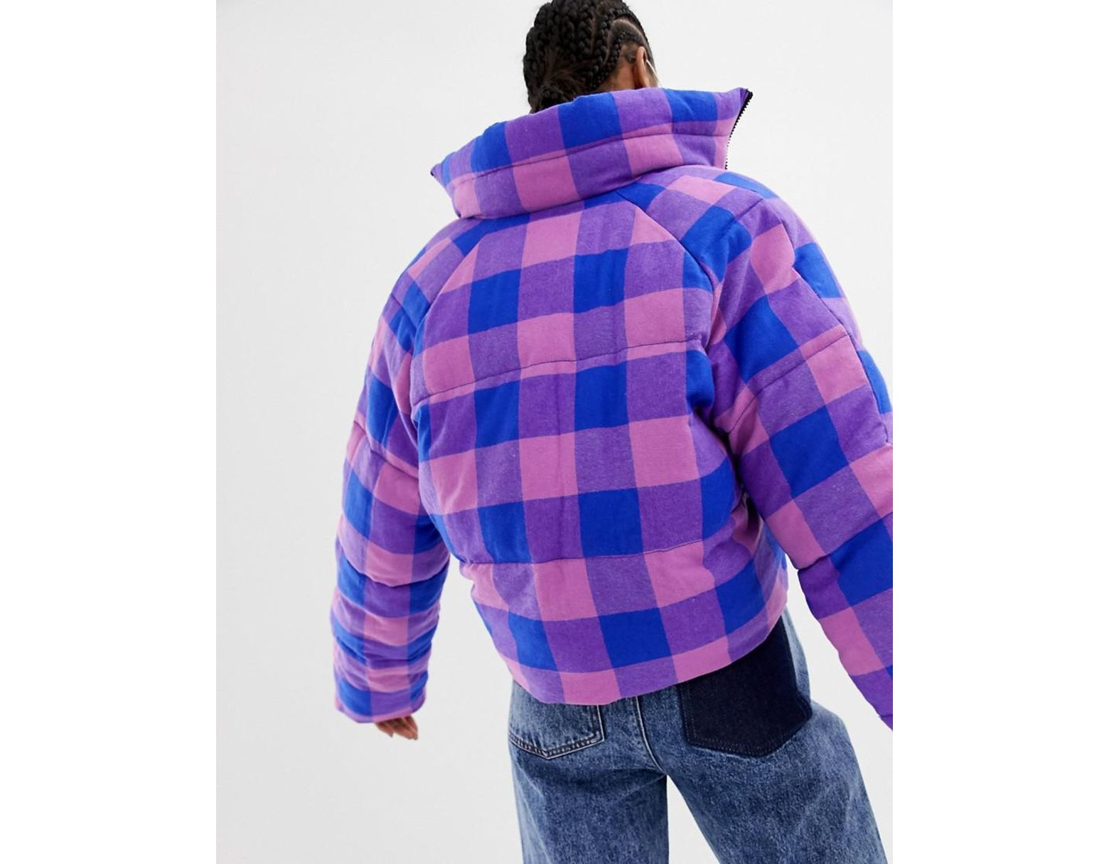 57f74713a16f Collusion Tall High Shine Reversible Puffer Jacket - Lyst