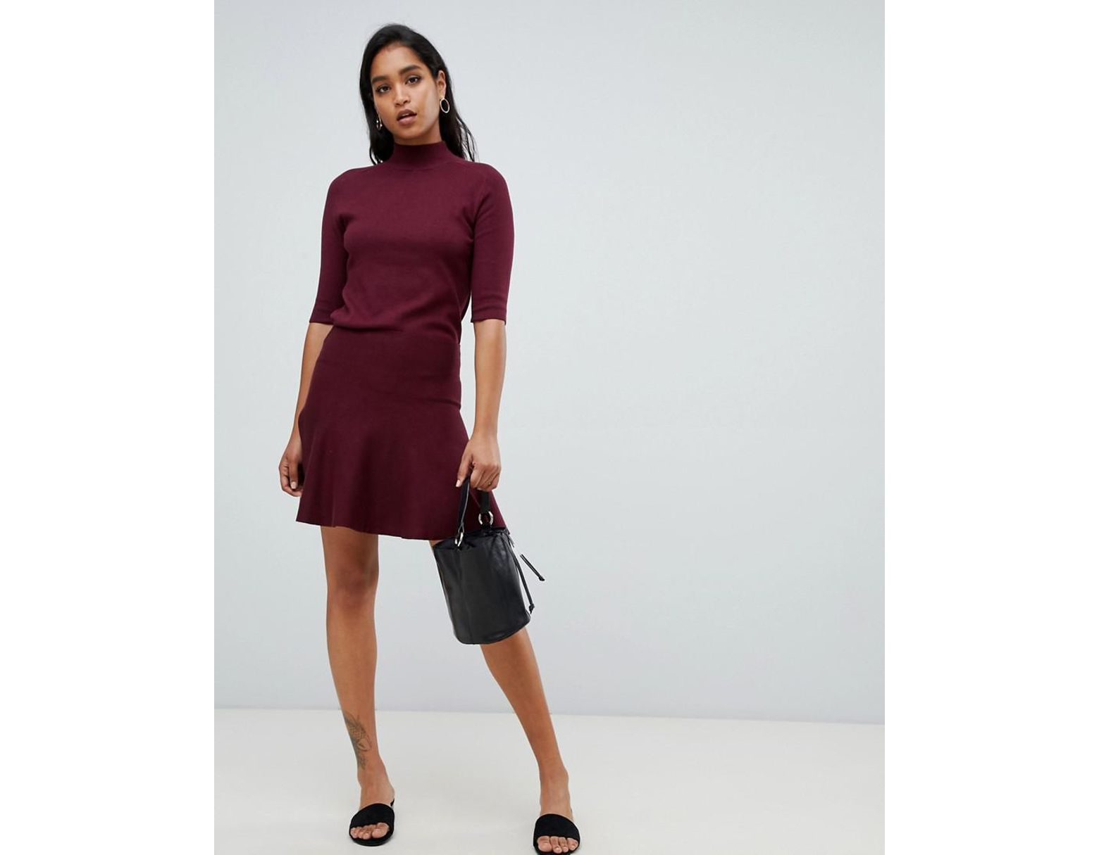 5b80fe3a8 Y.A.S Knitted Flare Mini Skirt in Red - Lyst