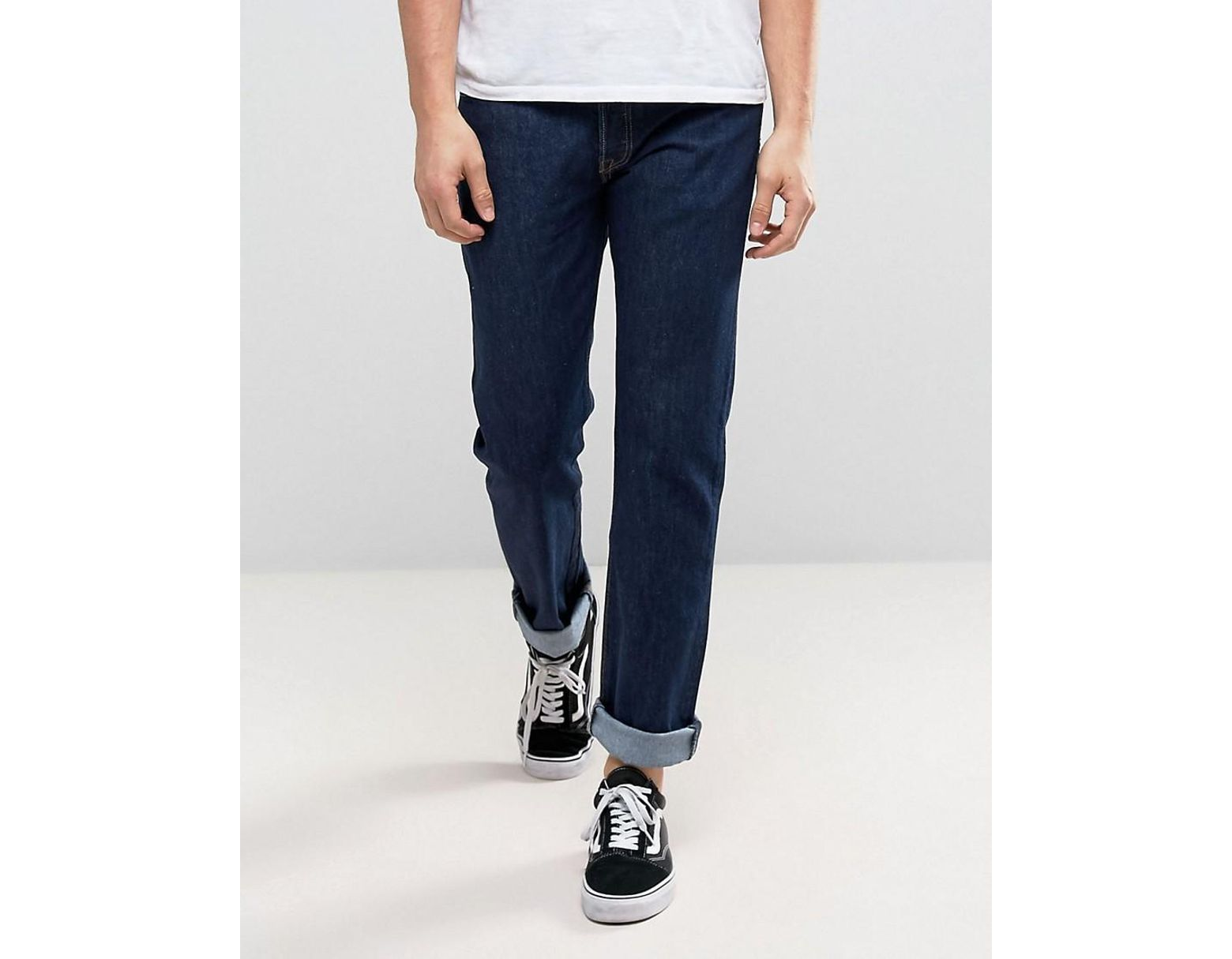 eac3413769 Levi's Original 501 Straight Leg Standard Rise Jeans In Rinse Wash in Blue  for Men - Lyst