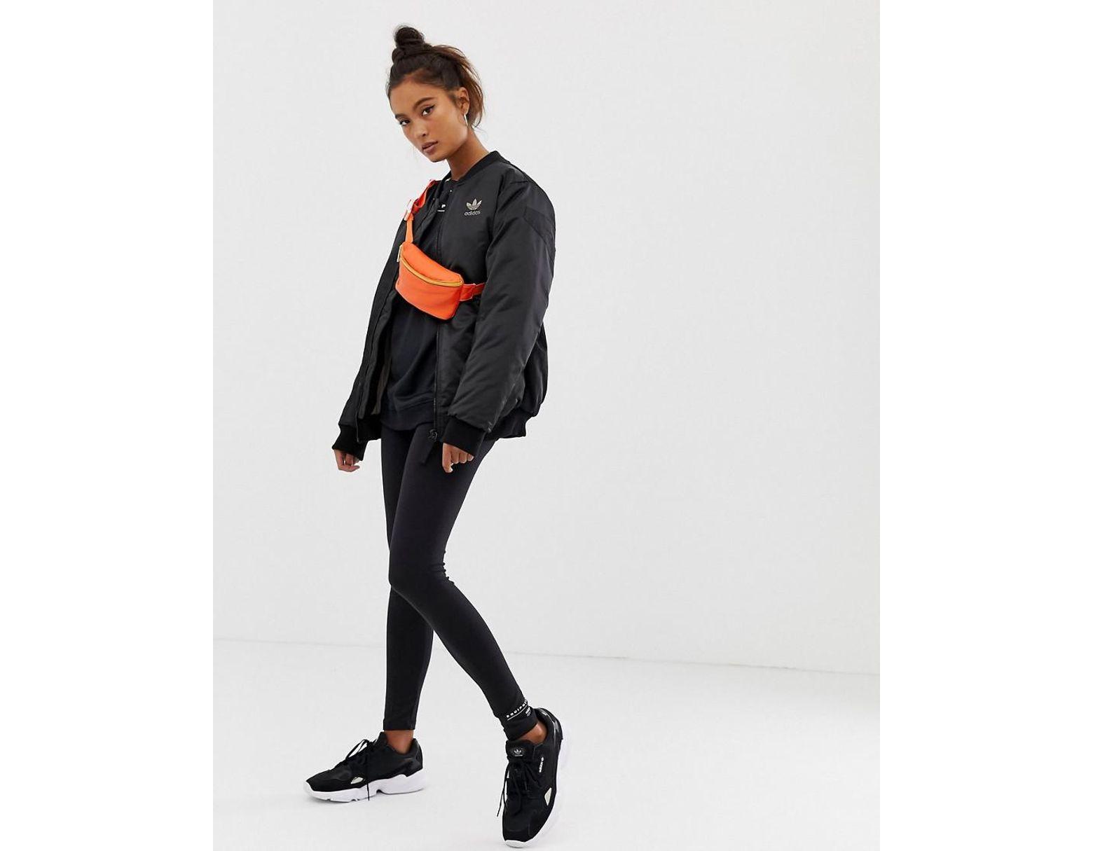 9d33e09a6eeff adidas Originals Eqt Tight leggings In Black in Black - Lyst