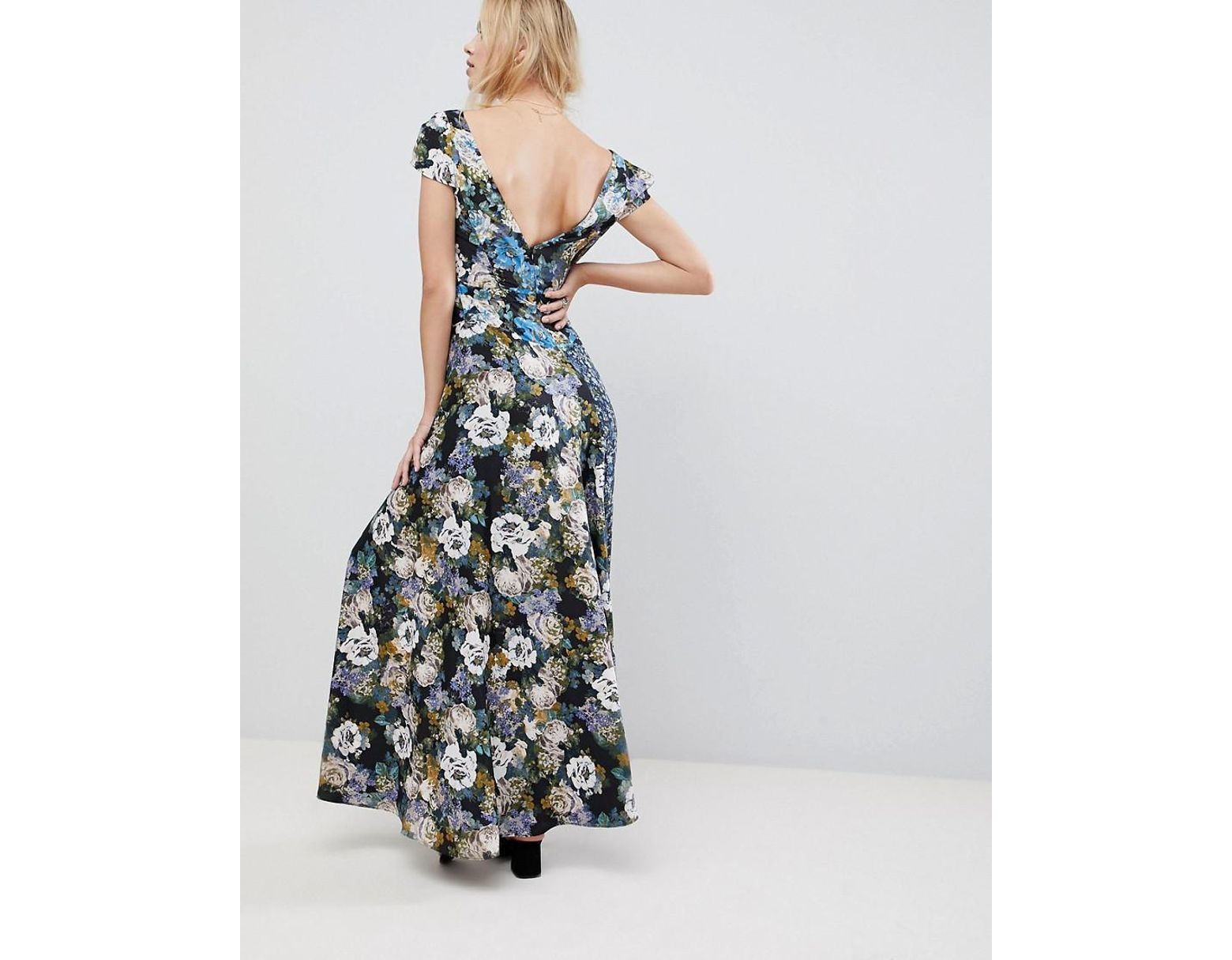 ae0f2655c4 Free People La Fleur Mixed Floral Print Maxi Dress in Blue - Save 66% - Lyst