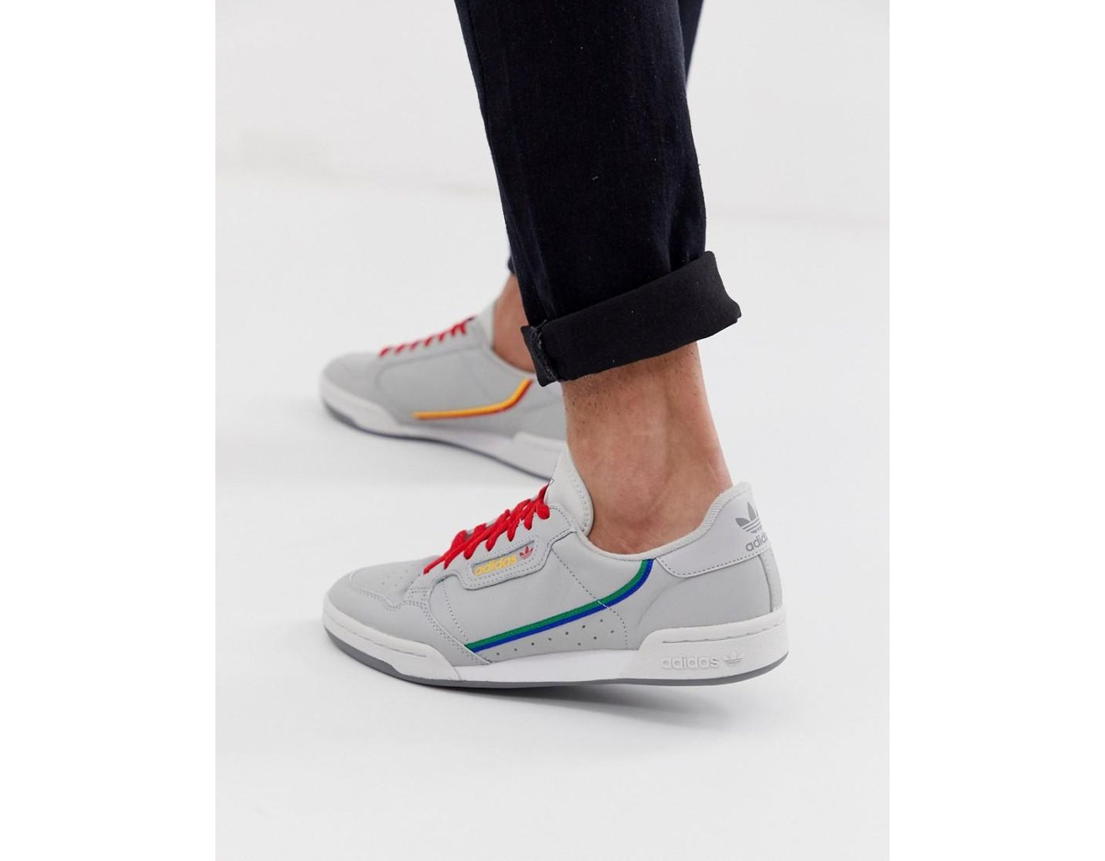 7dddf4a4d67 adidas Originals Continental 80 Trainers Grey Cg7128 in Gray for Men - Lyst