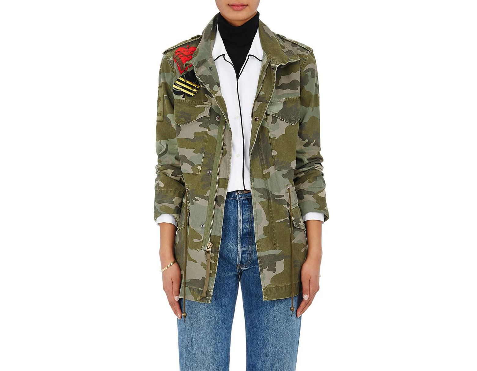 b42be32ff230b Mr & Mrs Italy Camouflage Cotton Canvas Field Jacket in Green - Save 70% -  Lyst