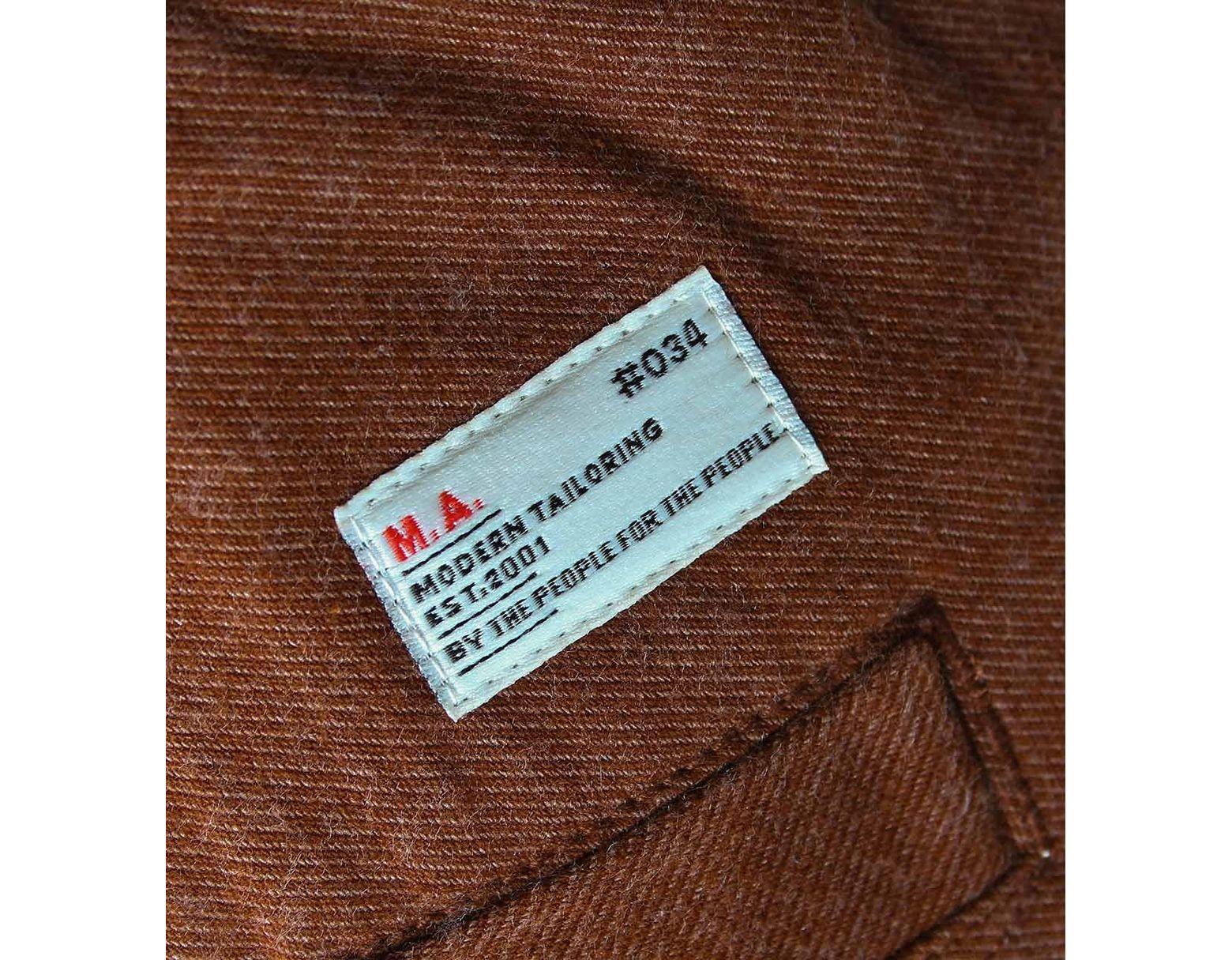 Marshall Artist Rust Orange Workshop Chino Trousers in Brown