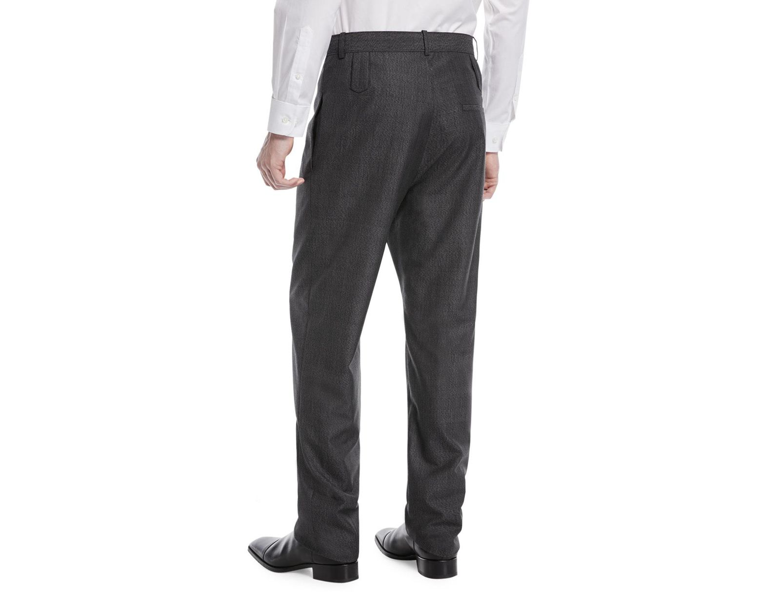28efabe17c4f26 Balenciaga High-rise Double Belt-loop Trousers in Gray for Men - Lyst