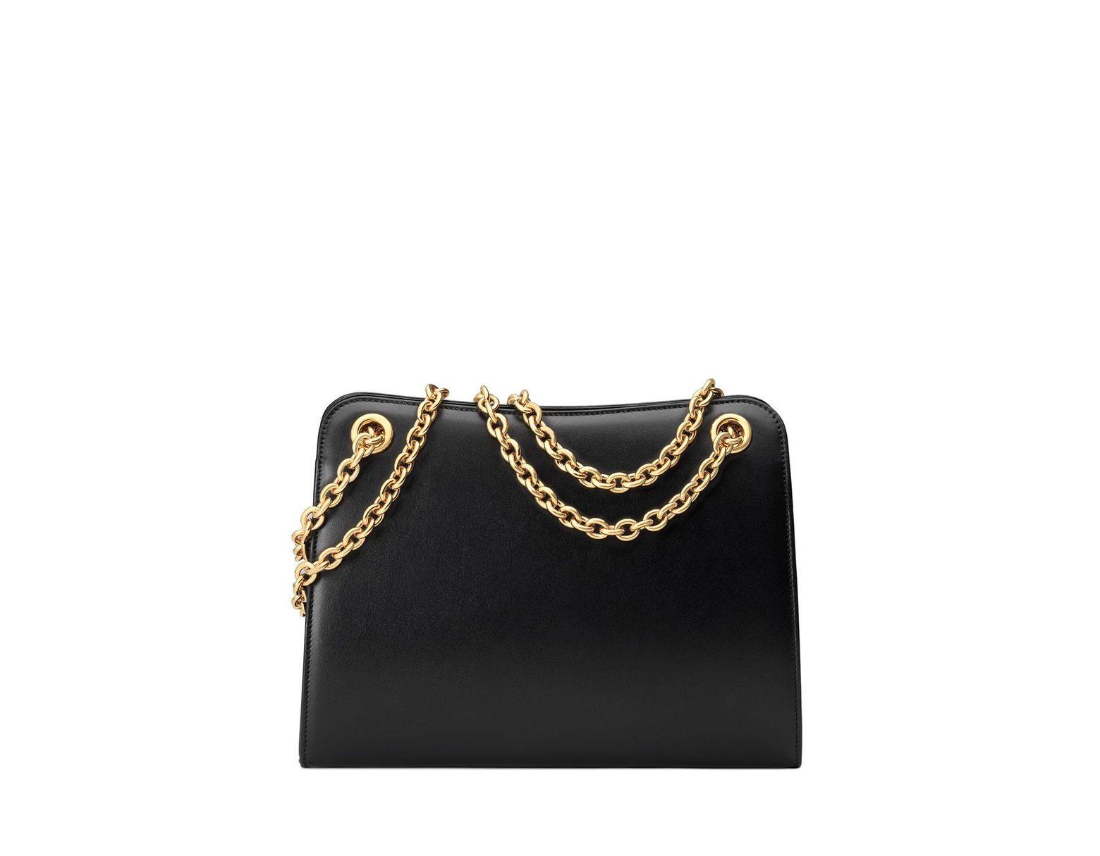 610a73ac5e18 Gucci Zumi Smooth Small Tote Bag in Black - Lyst