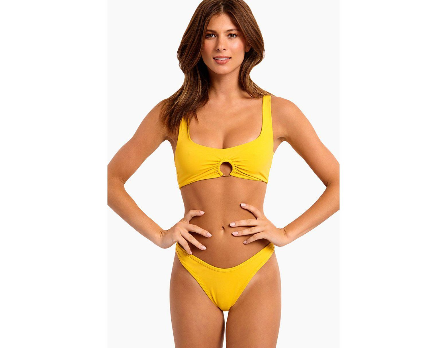 372fd3e194 L*Space Julia Sporty Bikini Top - Sunshine Gold - Lyst