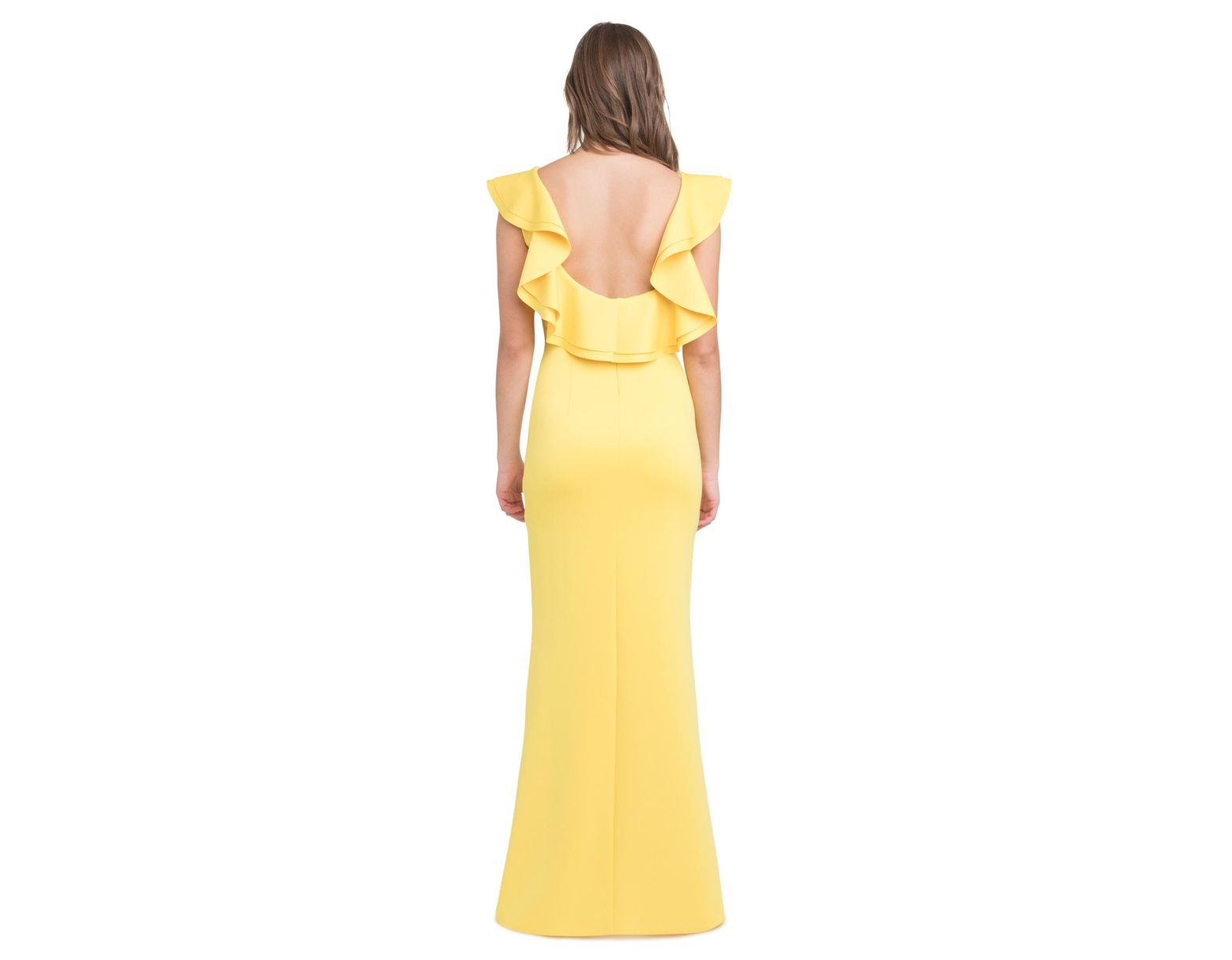 39239abb Black Halo Patricia Gown in Yellow - Lyst