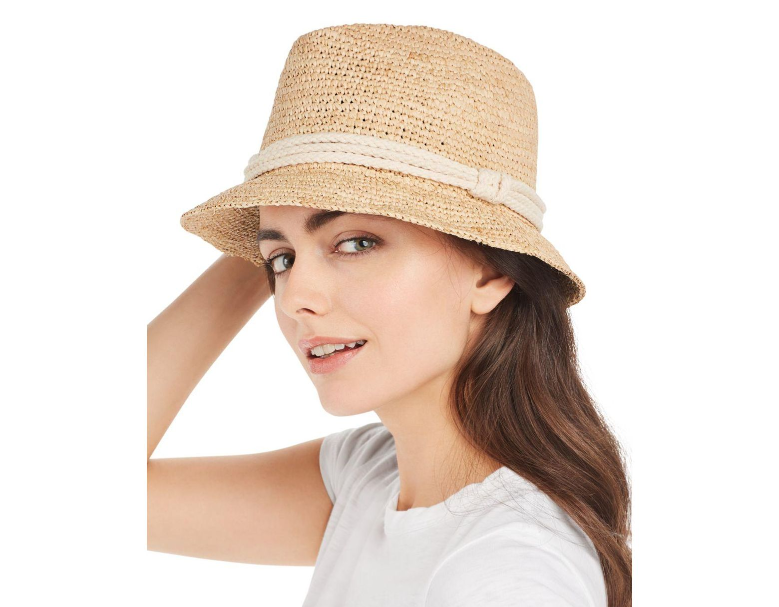 d5716c9d Ále By Alessandra Marin Raffia Hat in Natural - Lyst