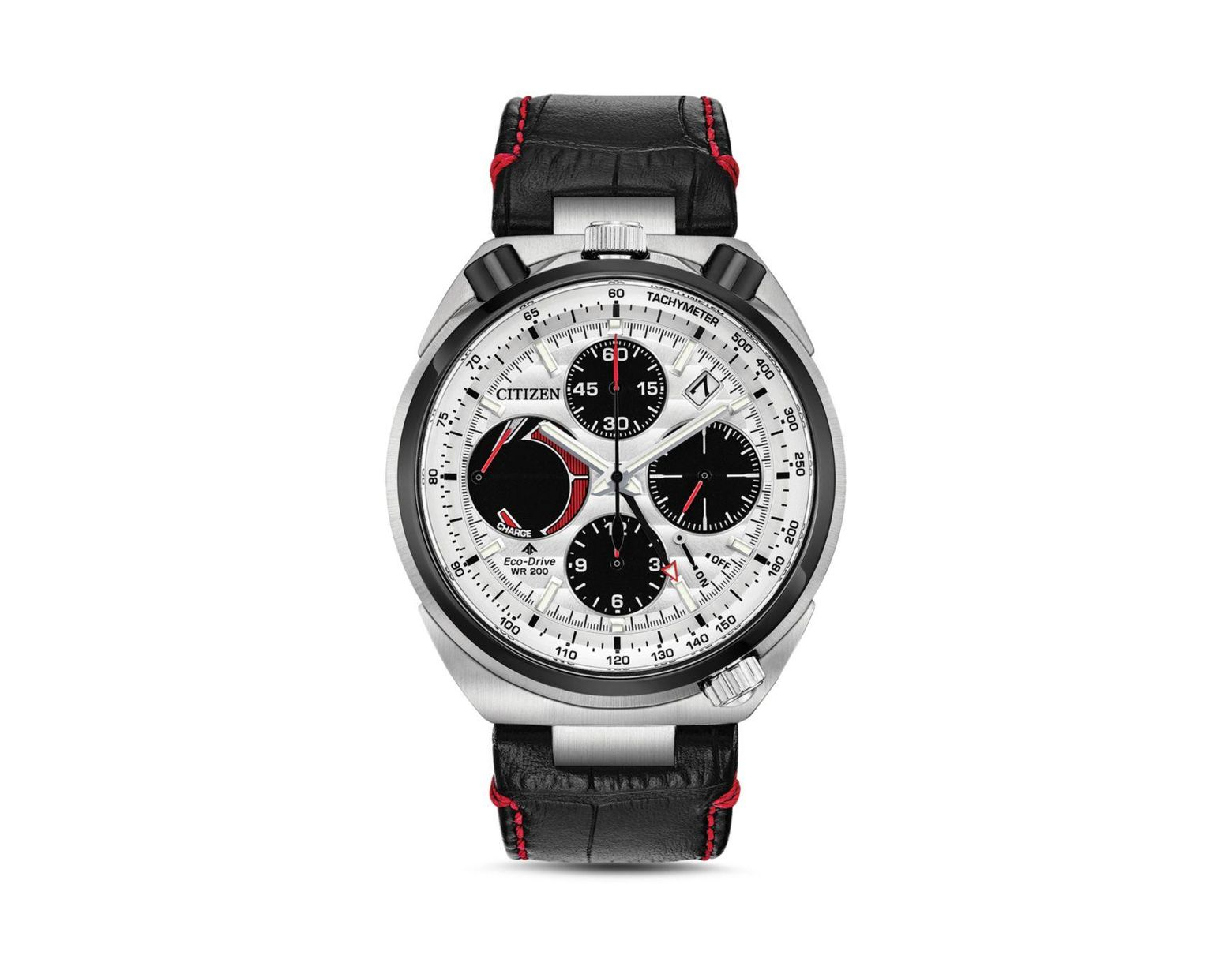 e79a548c6 Citizen Chronograph Promaster Tsuno Racer Black Leather Strap Watch 45mm in  Black for Men - Save 16% - Lyst