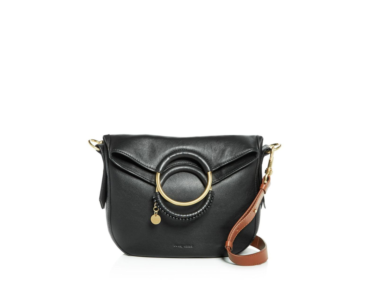 012f6439 See By Chloé Monroe Ring Handle Convertible Leather Shoulder Bag in ...