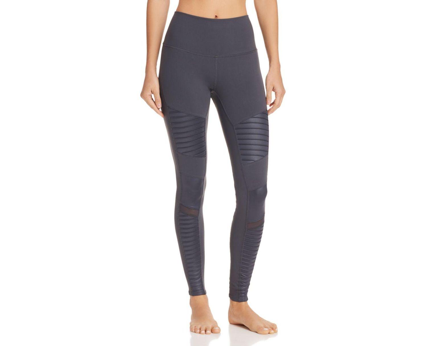 e22152ee85769d Alo Yoga High - Waist Moto Leggings - Lyst