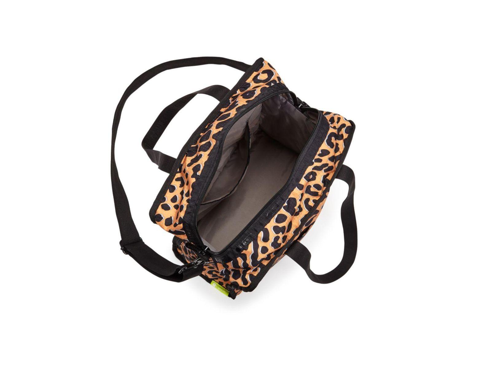 ddf595ba6 LeSportsac Gabrielle Medium Leopard - Print Nylon Box Tote in Black - Lyst