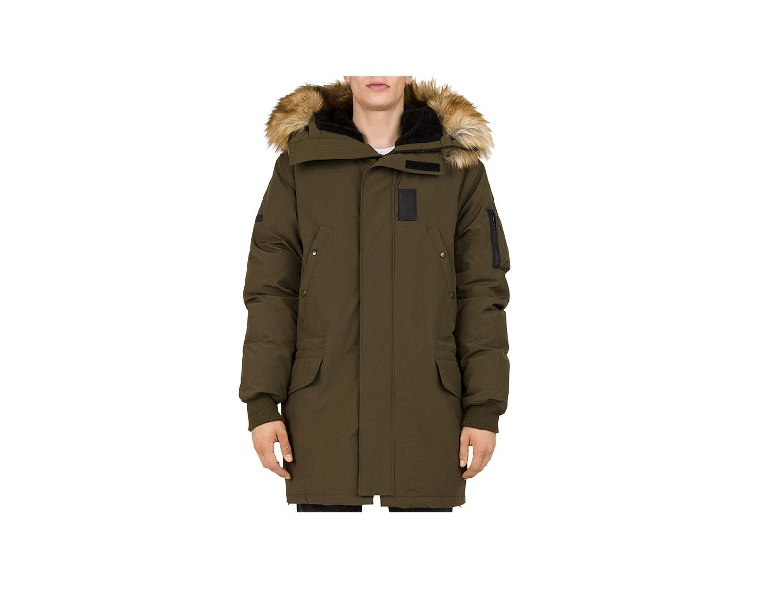6a8ba6f8af The Kooples Mixed - Media Puffa Parka Jacket for Men - Lyst