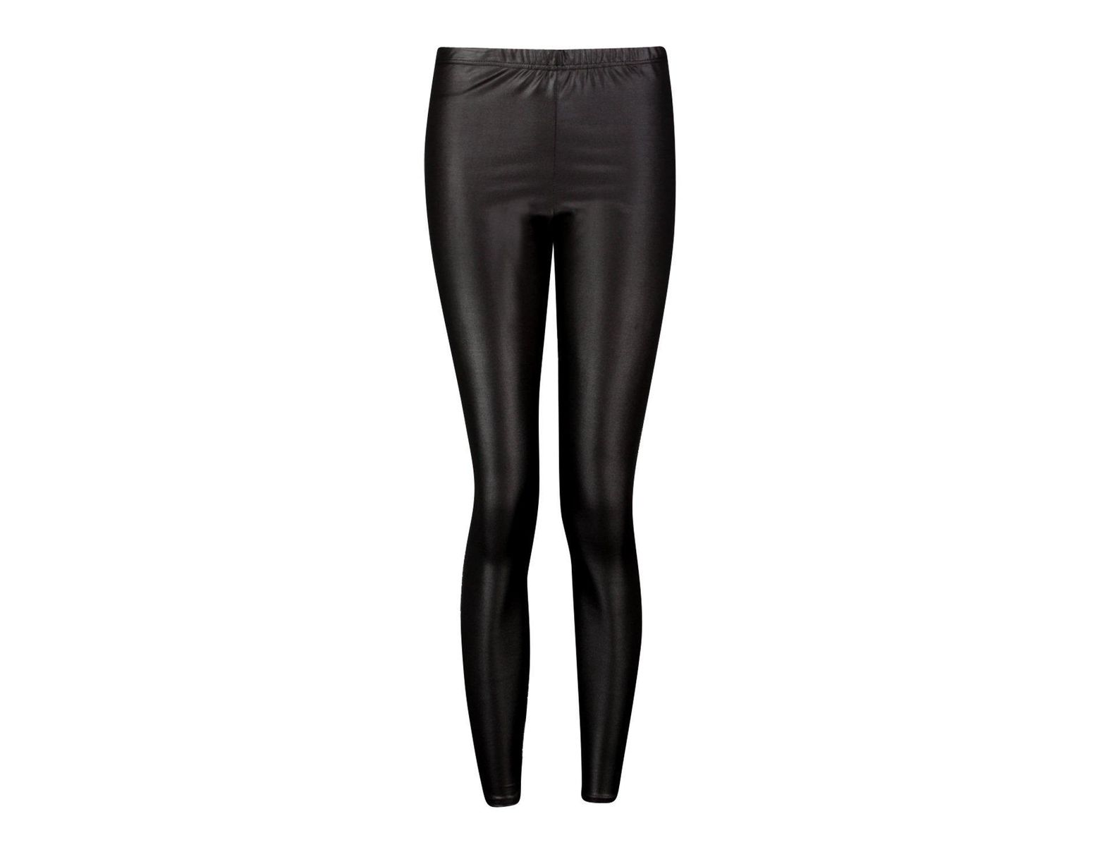 829089618329 Boohoo Wet Look Leggings in Black - Lyst