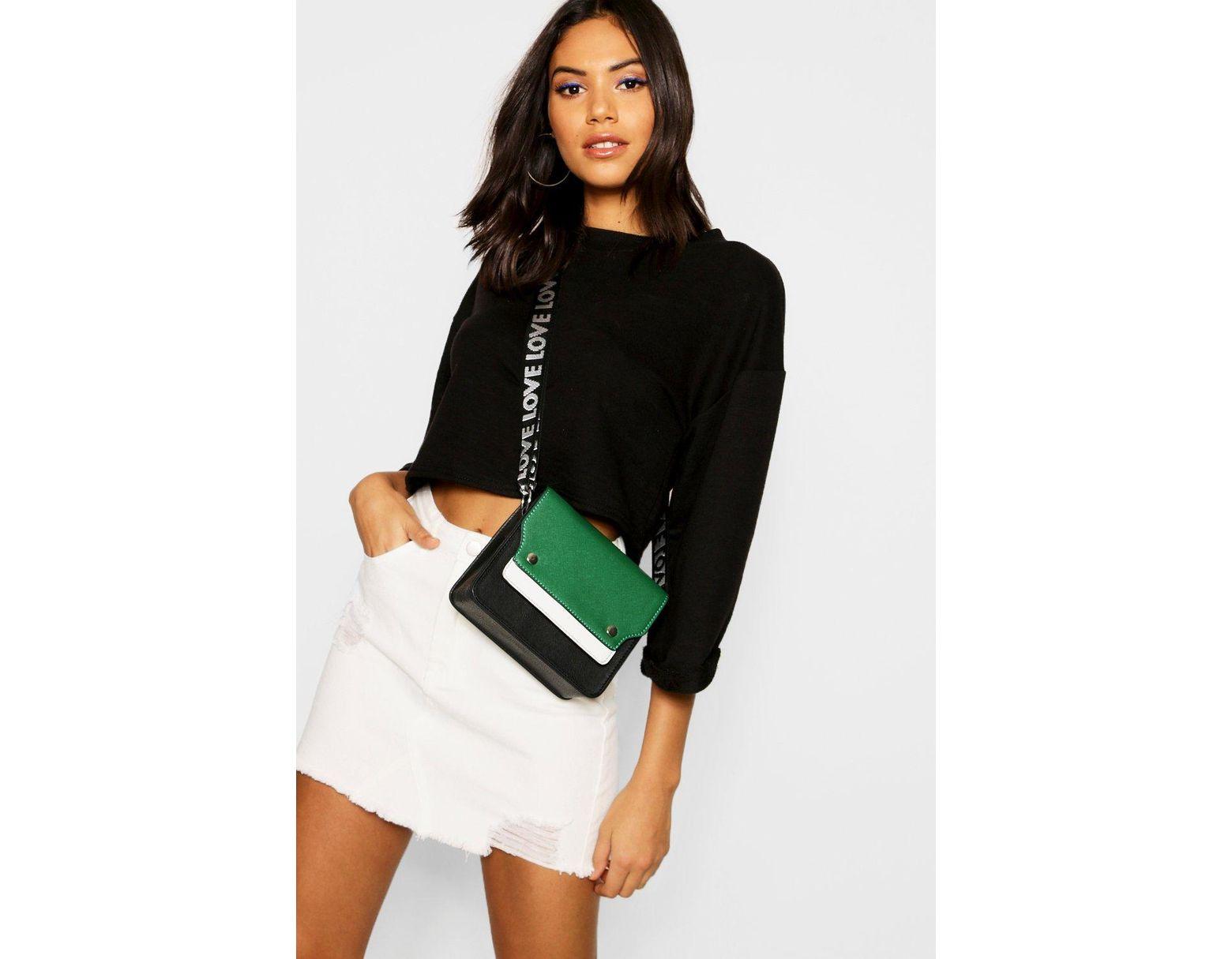 55d0d9dca Boohoo Ecru Distressed Micro Mini Denim Skirt - Lyst