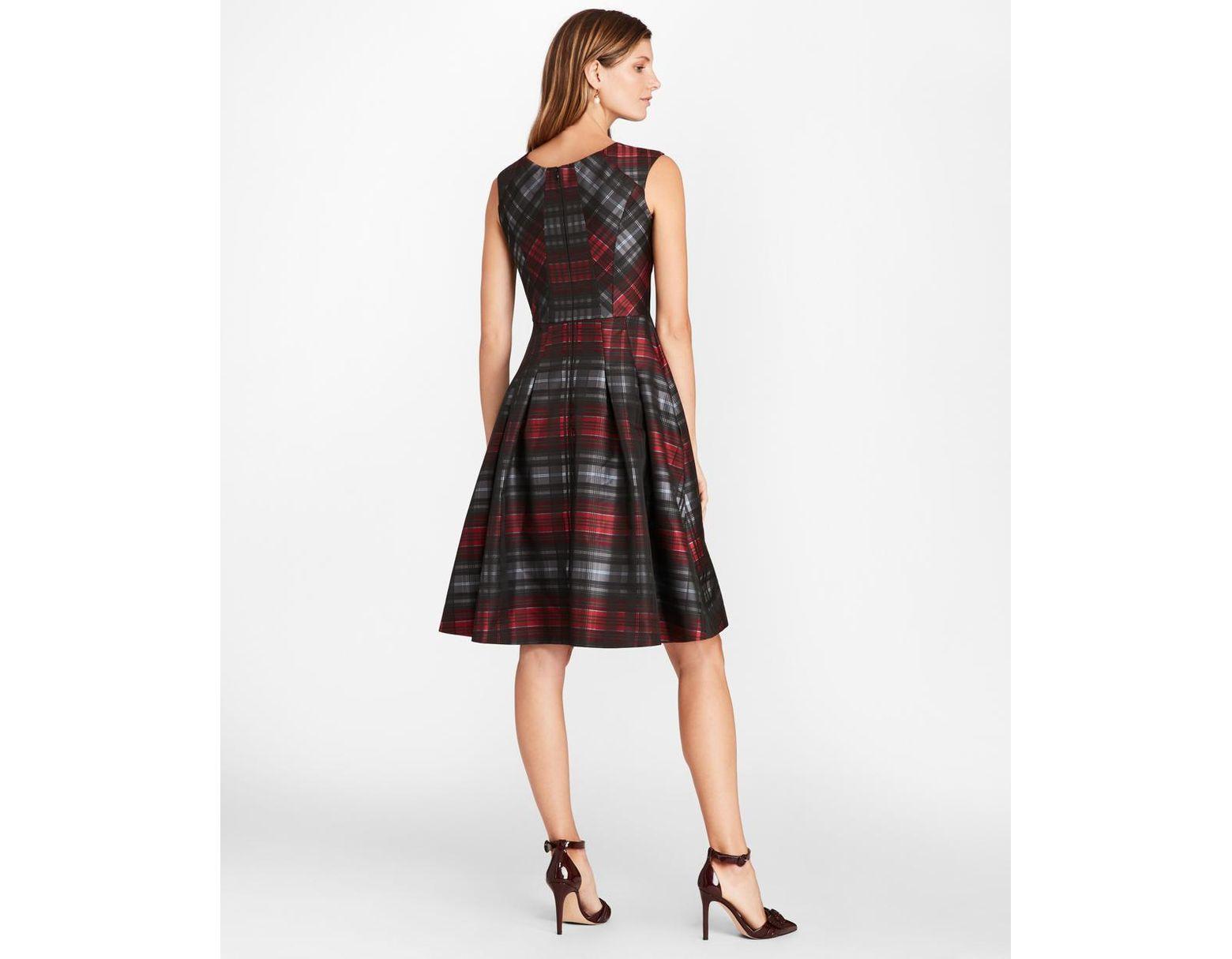 f3fda6e669f8a Brooks Brothers Petite Tartan Jacquard Dress in Black - Save 33% - Lyst